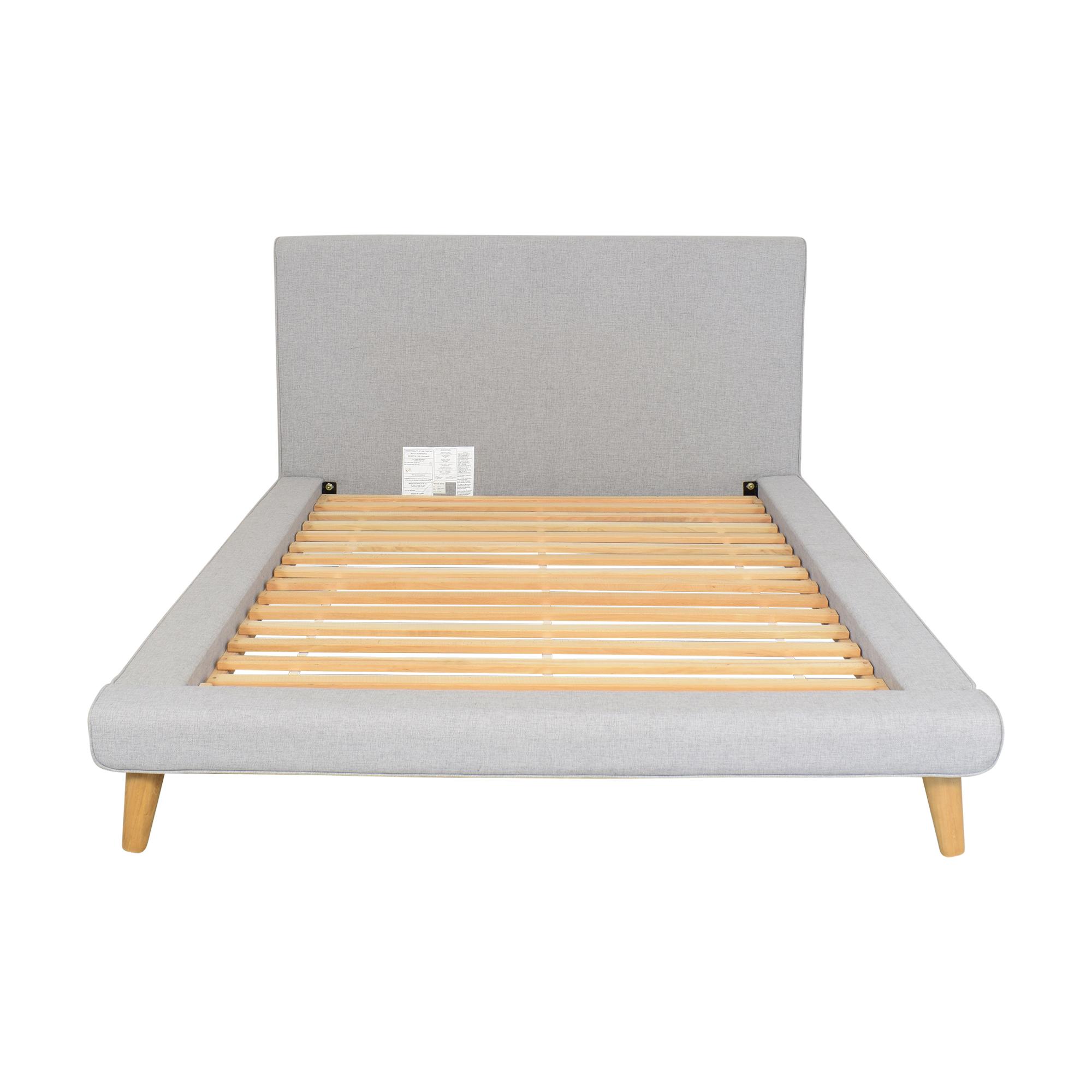 shop West Elm Mod Upholstered Full Platform Bed West Elm