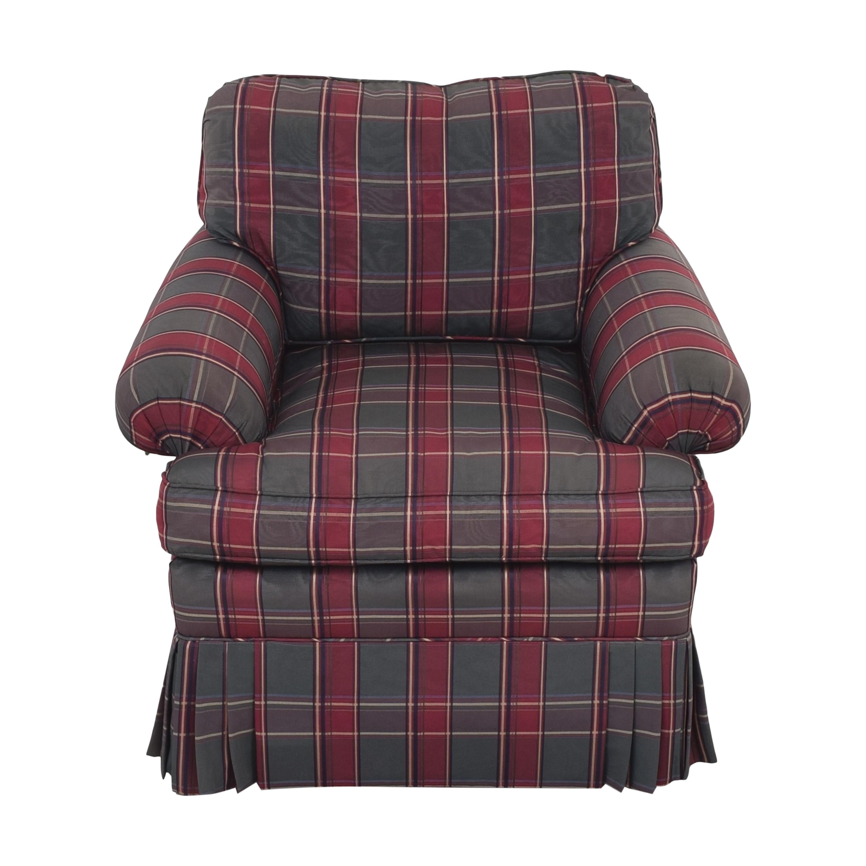 Kravet Kravet Plaid Accent Chair red & dark green