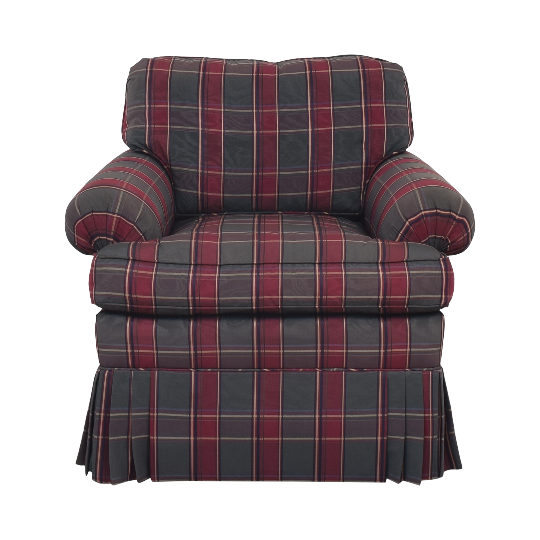 buy Kravet Plaid Accent Chair Kravet