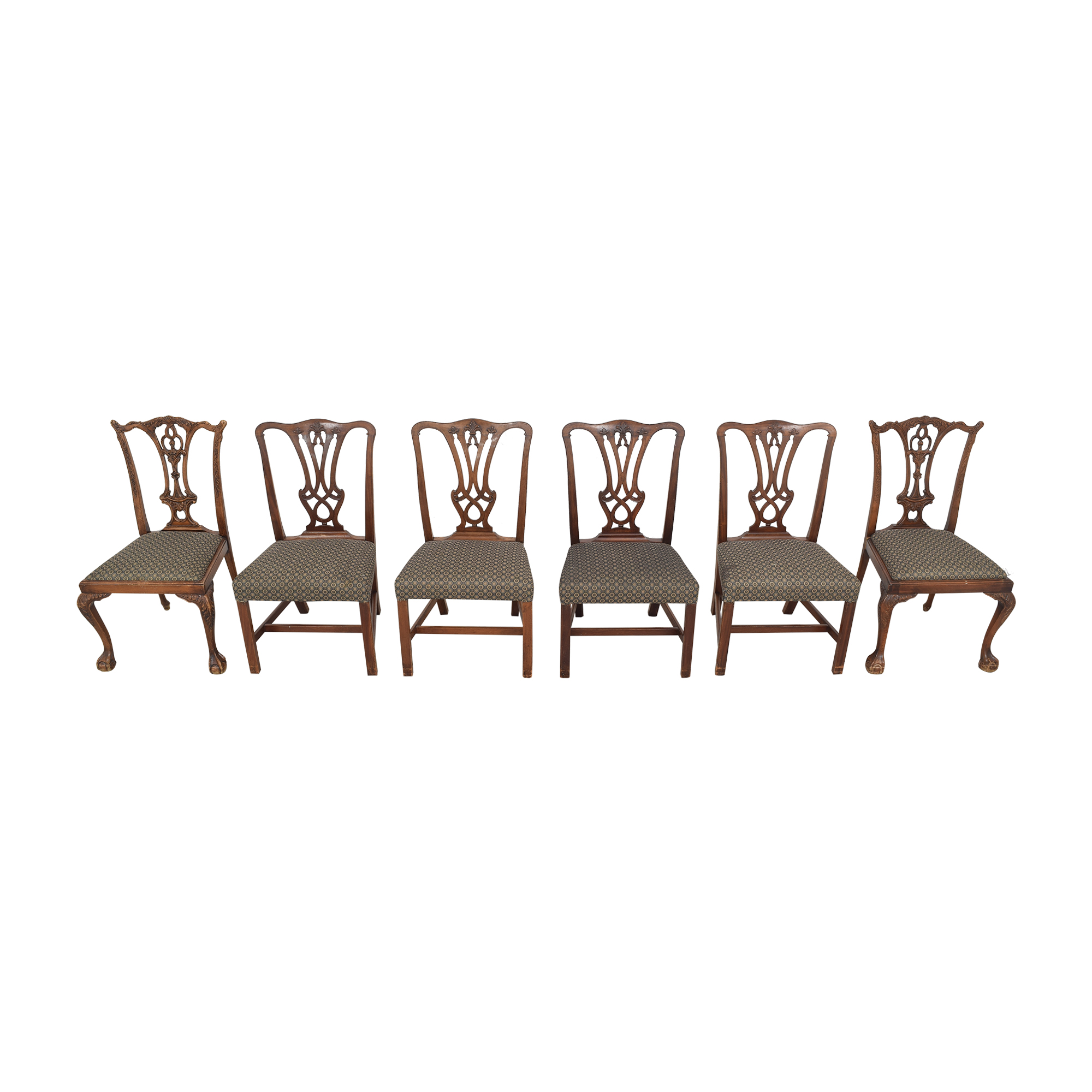 Carved Back Upholstered Dining Chairs discount