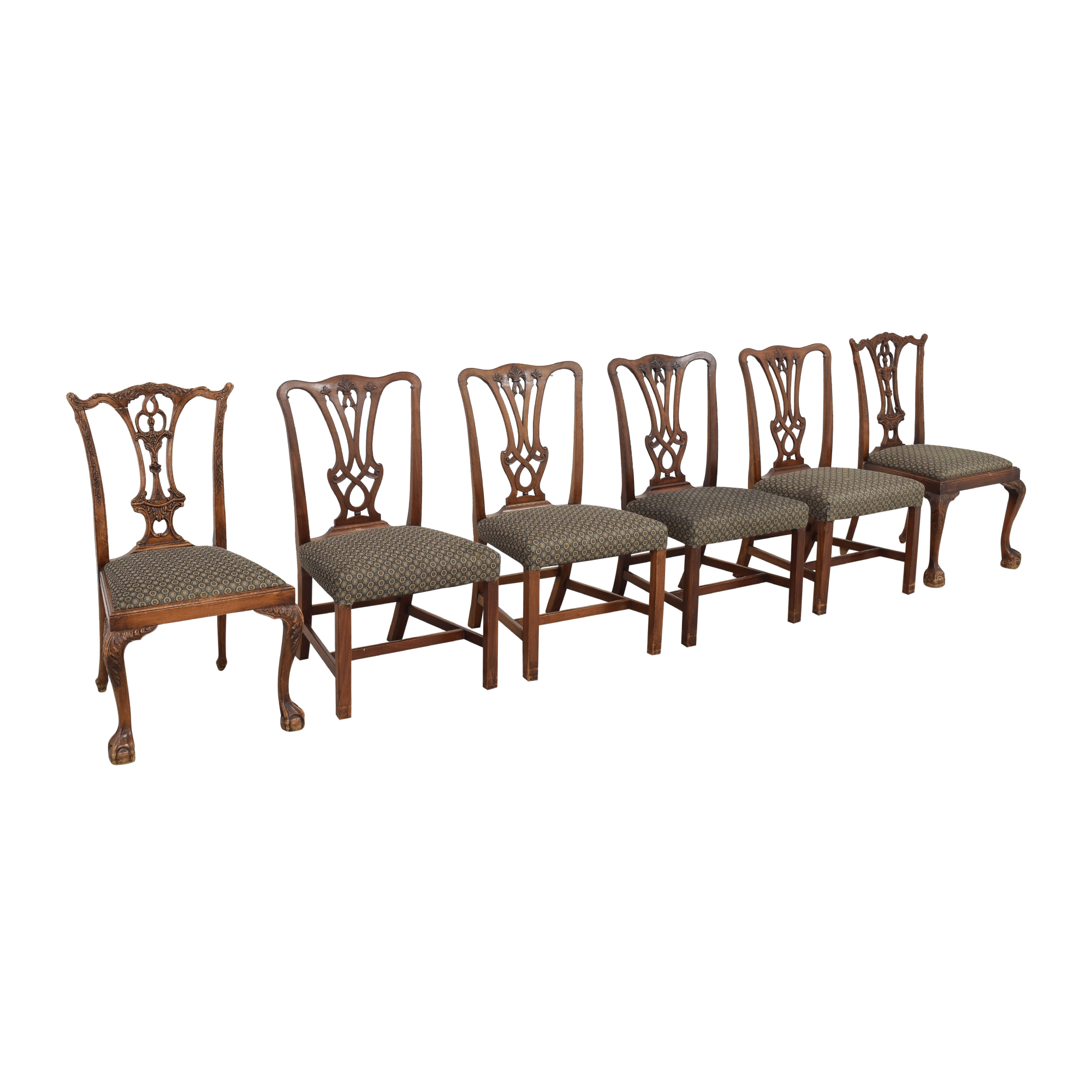 Carved Back Upholstered Dining Chairs / Dining Chairs