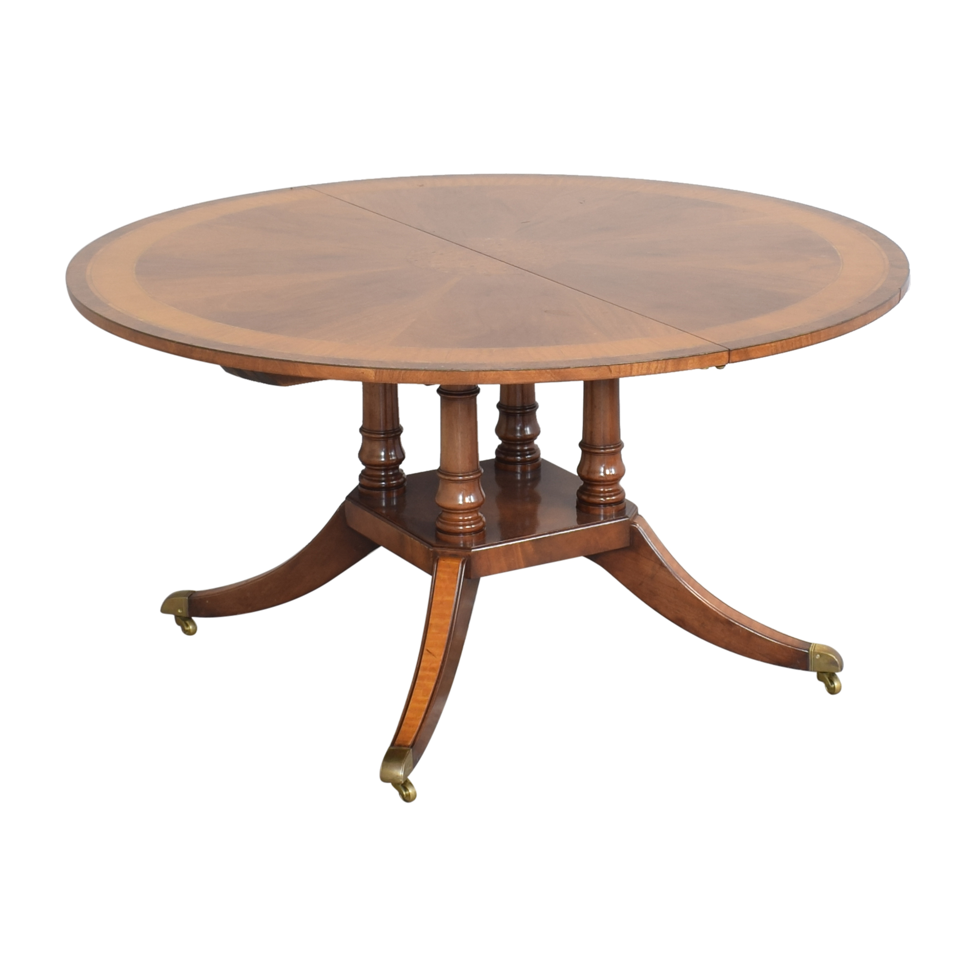 Round Extendable Dining Table pa