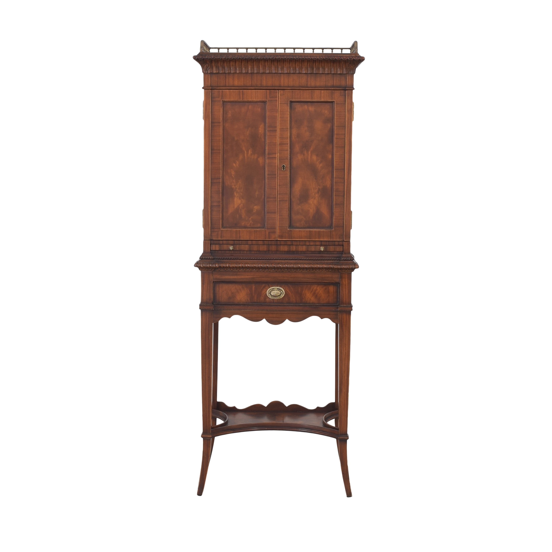 Antique Bar Cabinet with Transparent Shelves nj