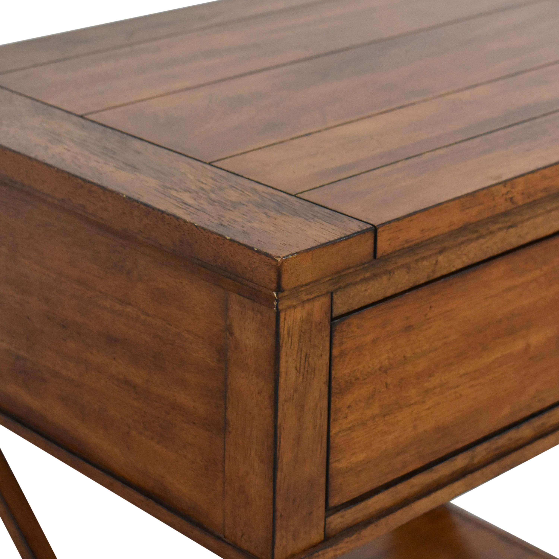 Ethan Allen Ethan Allen Alec X Night Table with Desk Extension nj