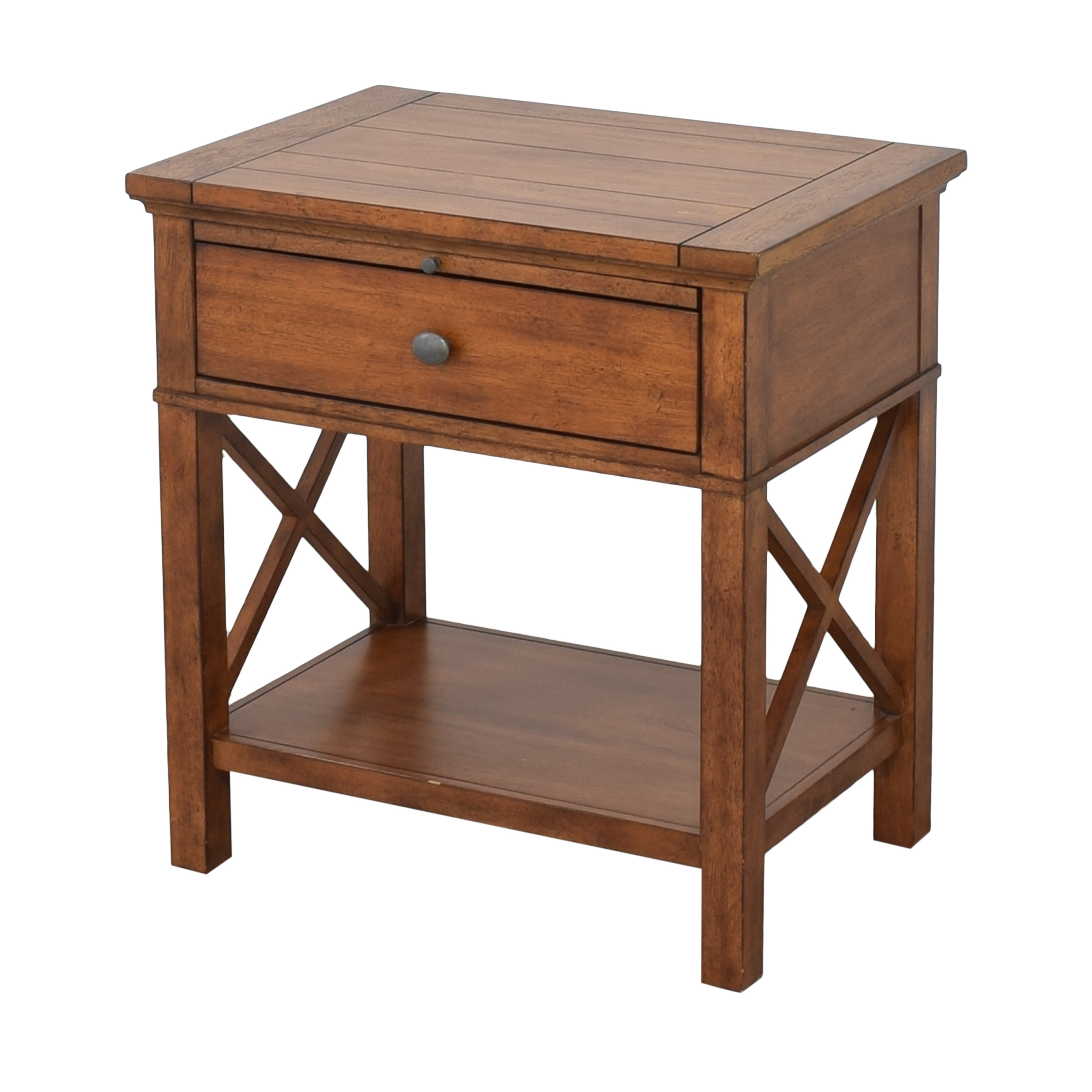 Ethan Allen Ethan Allen Alec X Night Table with Desk Extension pa