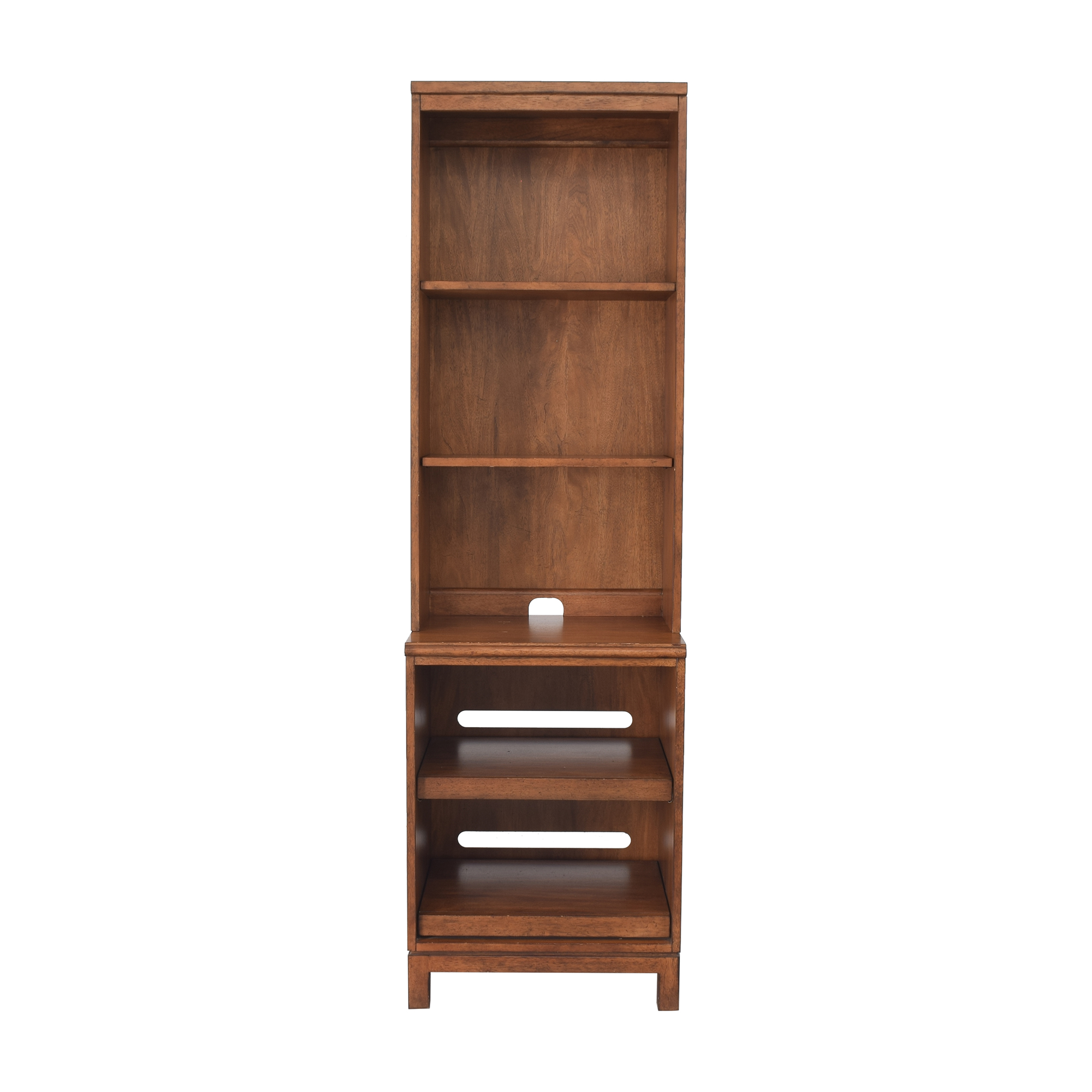 shop Ethan Allen Bookcase with Extendable Shelves Ethan Allen Bookcases & Shelving