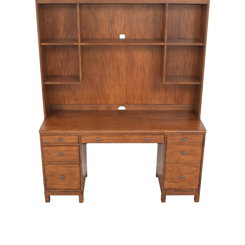 Ethan Allen Ethan Allen Pedestal Desk with Hutch ct