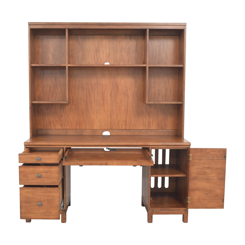 Ethan Allen Ethan Allen Pedestal Desk with Hutch dimensions