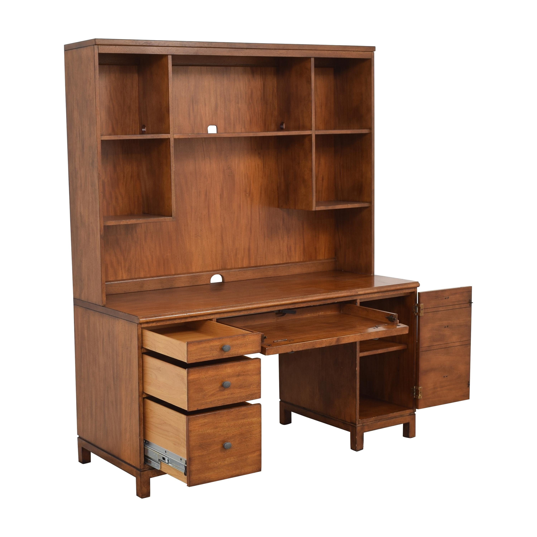 Ethan Allen Ethan Allen Pedestal Desk with Hutch Tables