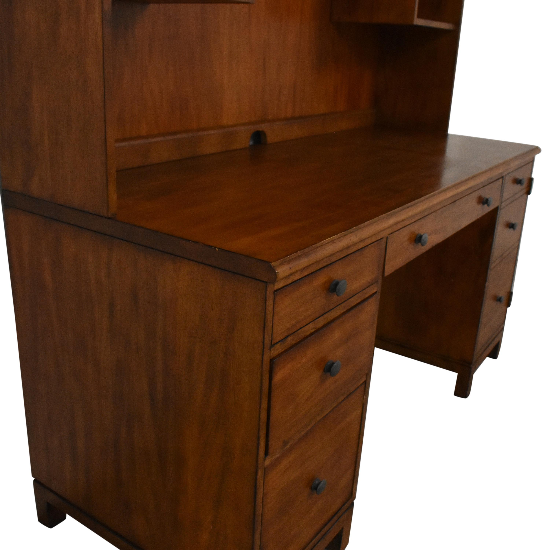 Ethan Allen Ethan Allen Pedestal Desk with Hutch discount