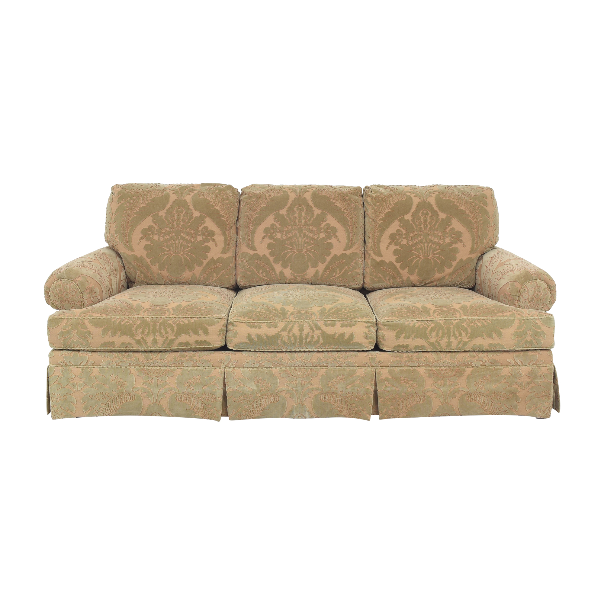 Hickory Chair Hickory Chair Sovereign Collection Devon Sofa green and beige