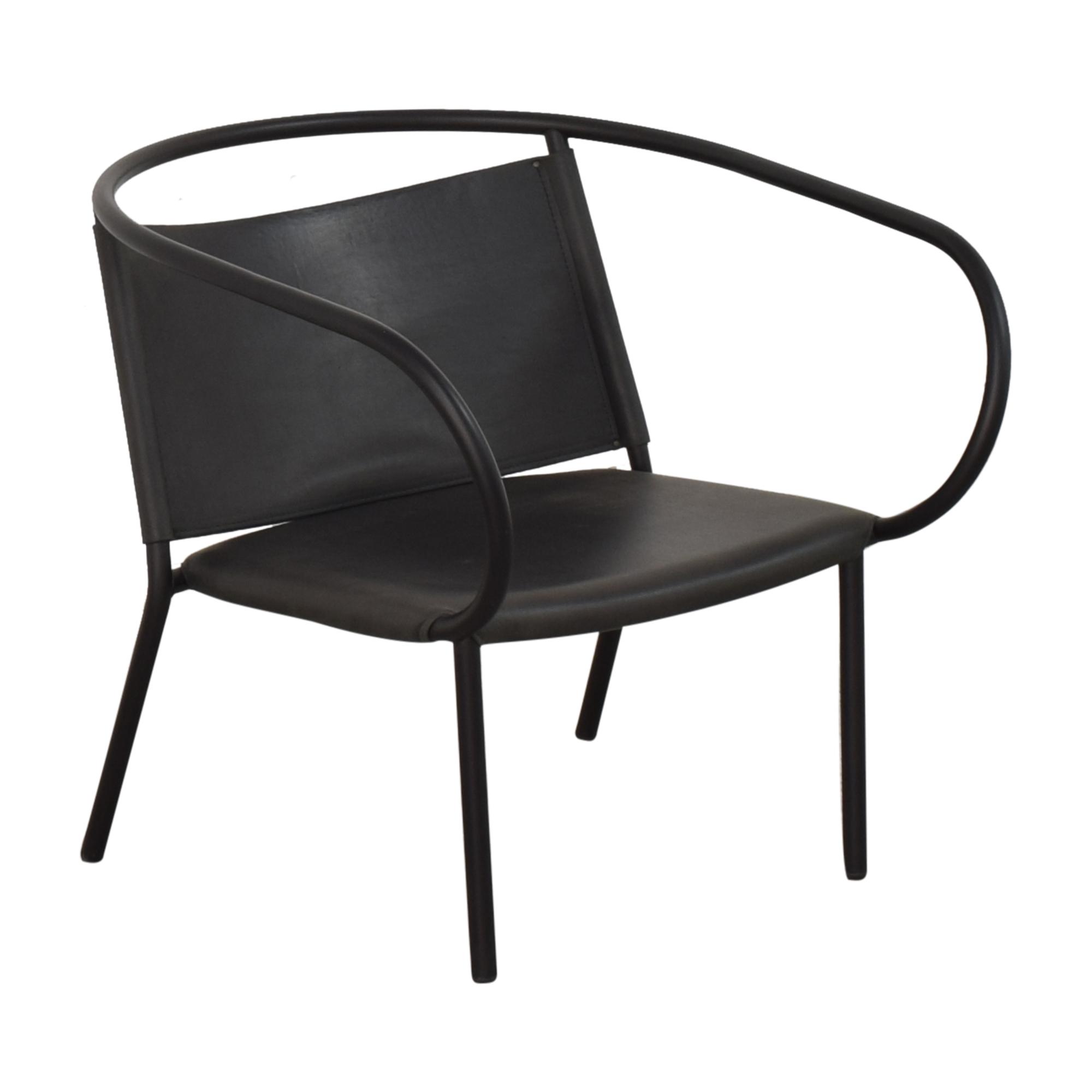 Menu Design Shop Menu Design Shop Afteroom Lounge Chair dark grey & black