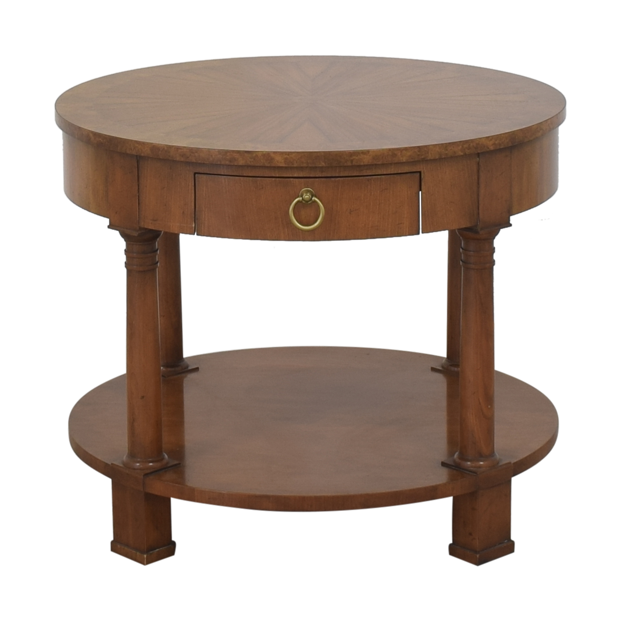 Baker Furniture Round End Table / End Tables