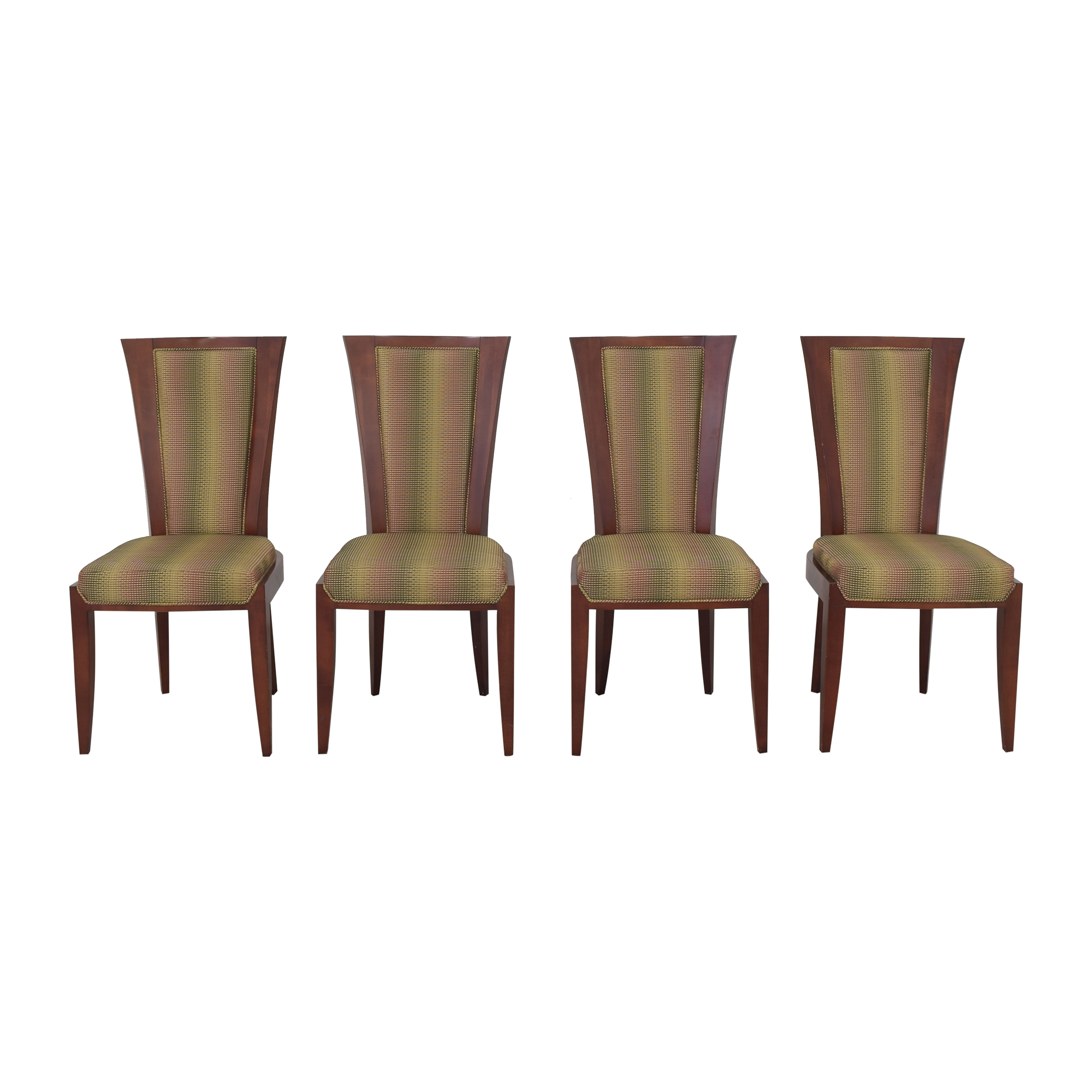 Upholstered Art Deco Dining Chairs ma