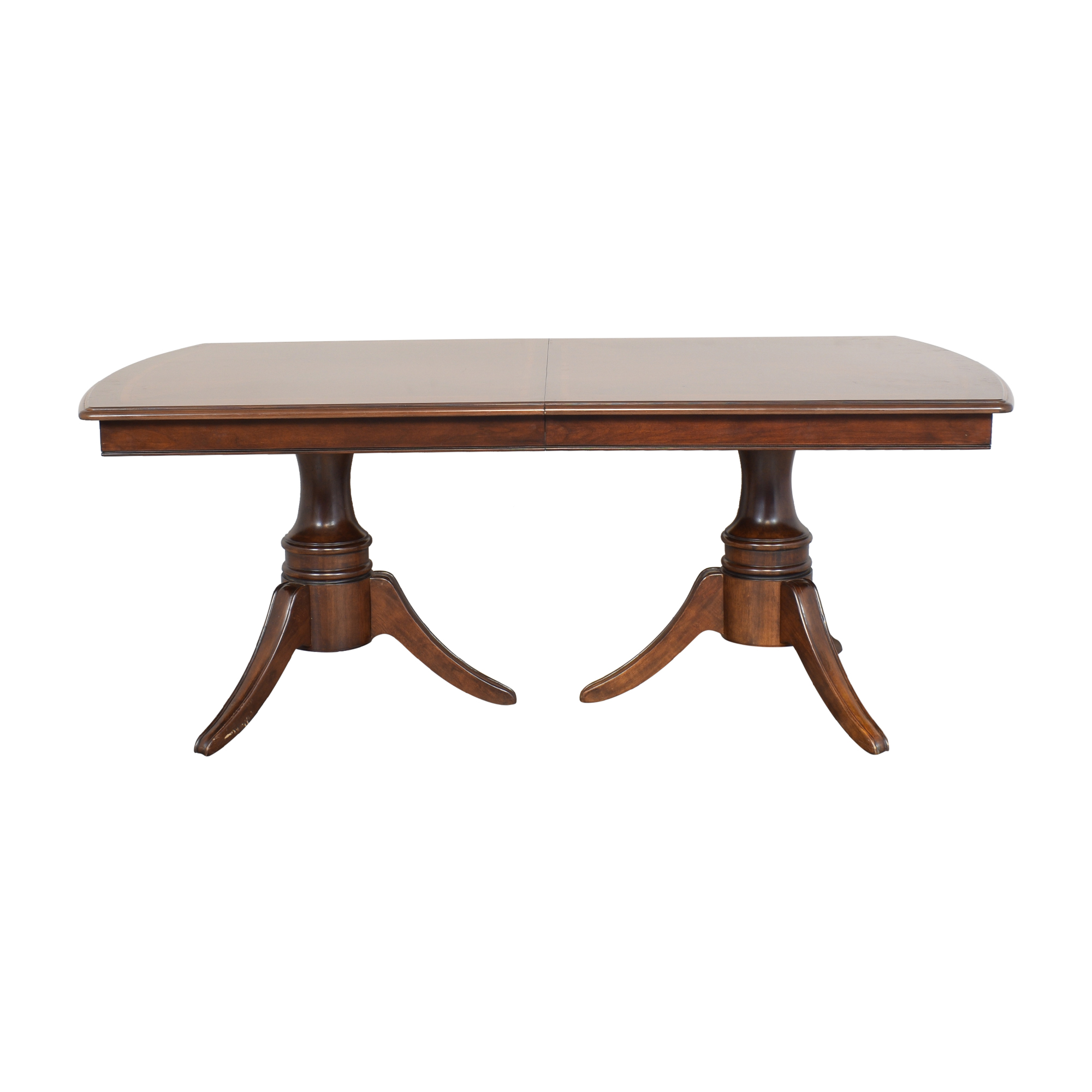 buy Raymour & Flanigan Expanding Two Pedestal Dining Table Raymour & Flanigan