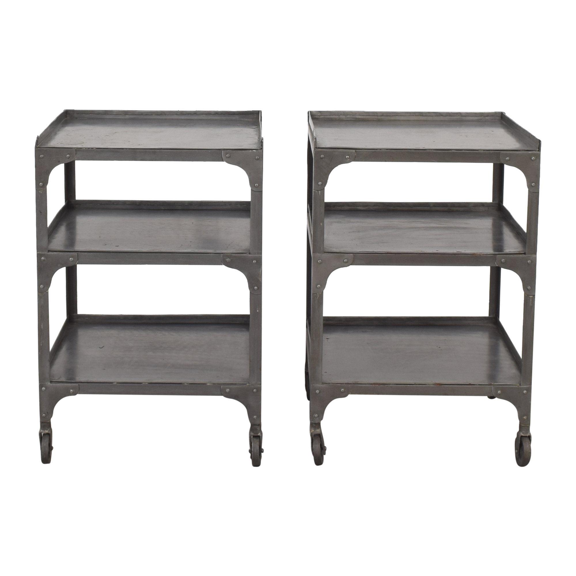Contemporary Industrial End Tables on sale