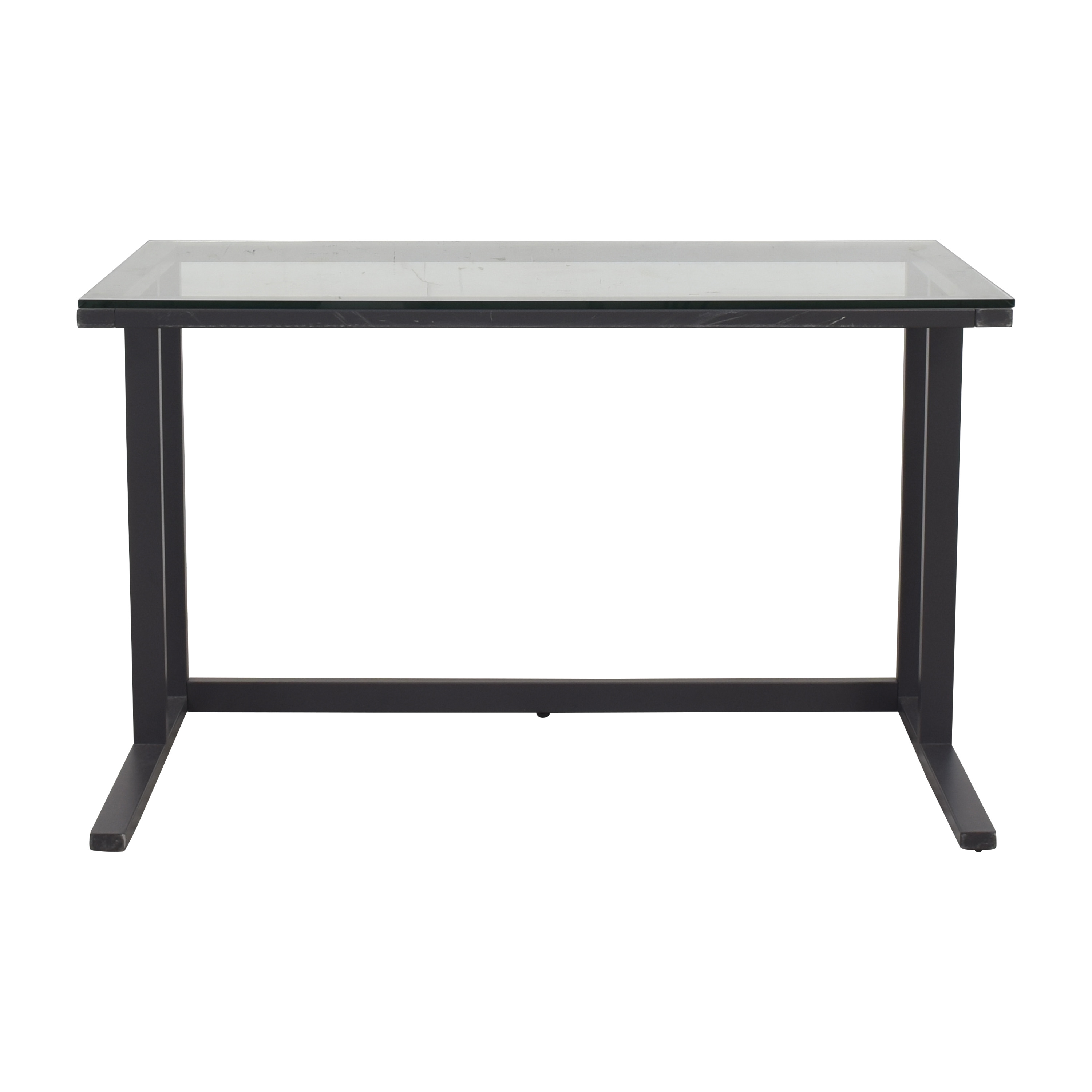 Crate & Barrel Crate & Barrel Pilsen Desk with Transparent Surface black