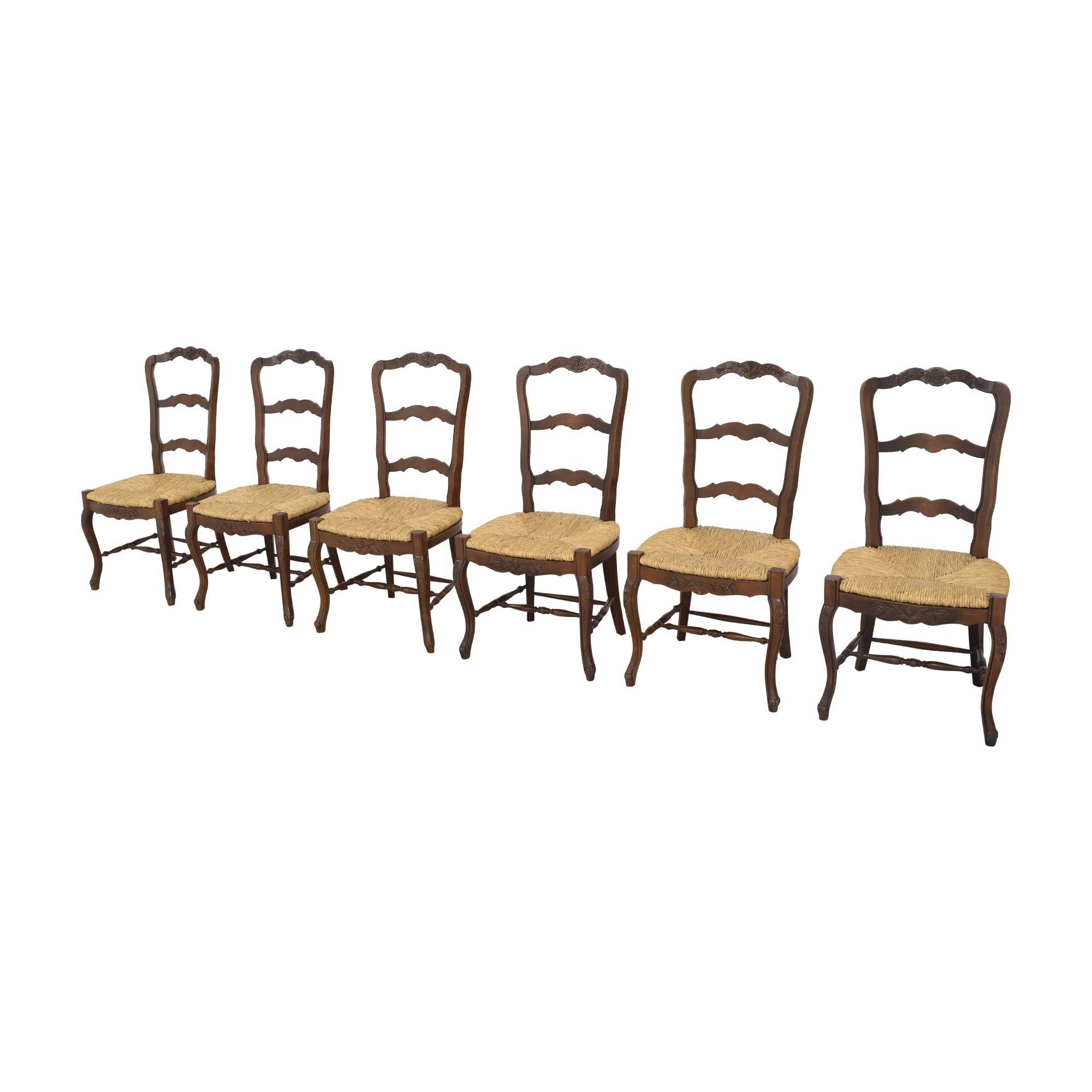 French-Style Ladderback Dining Chairs used