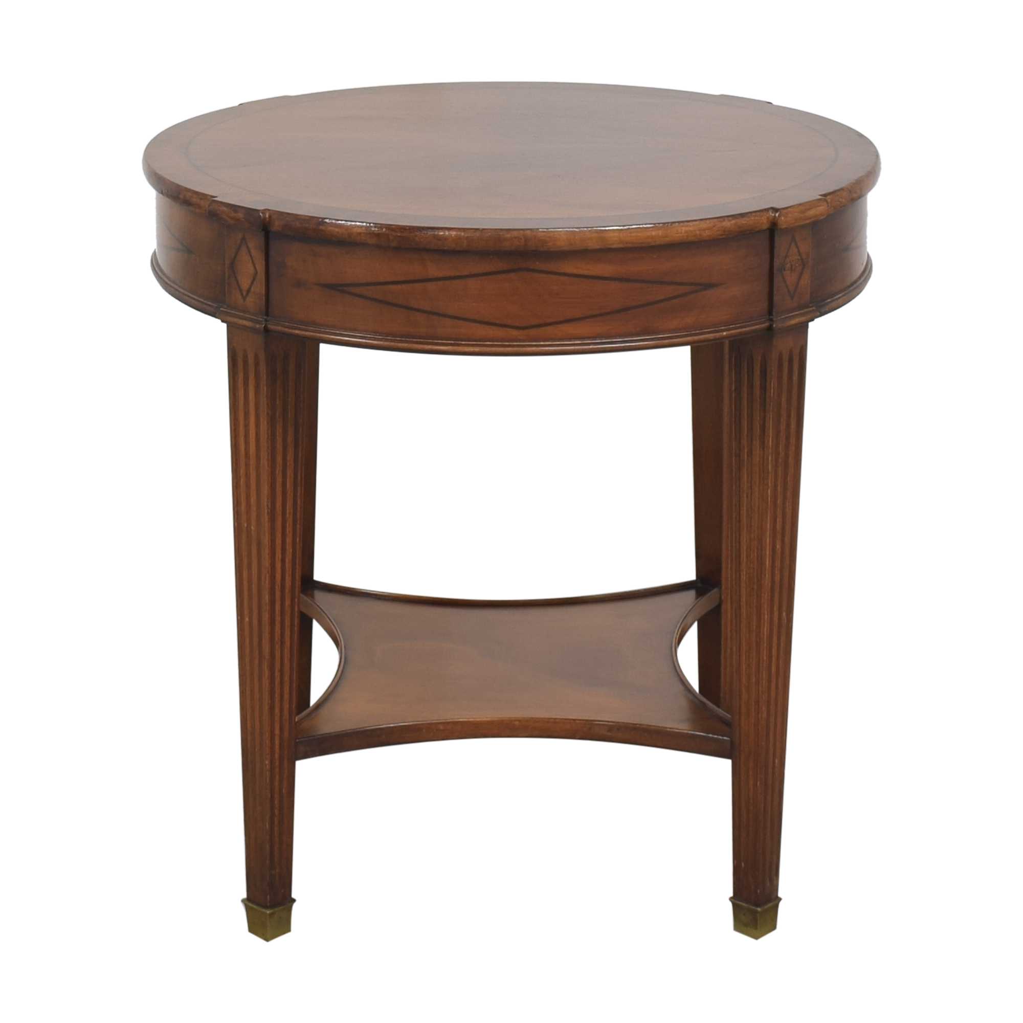 Single Drawer Round End Table ct