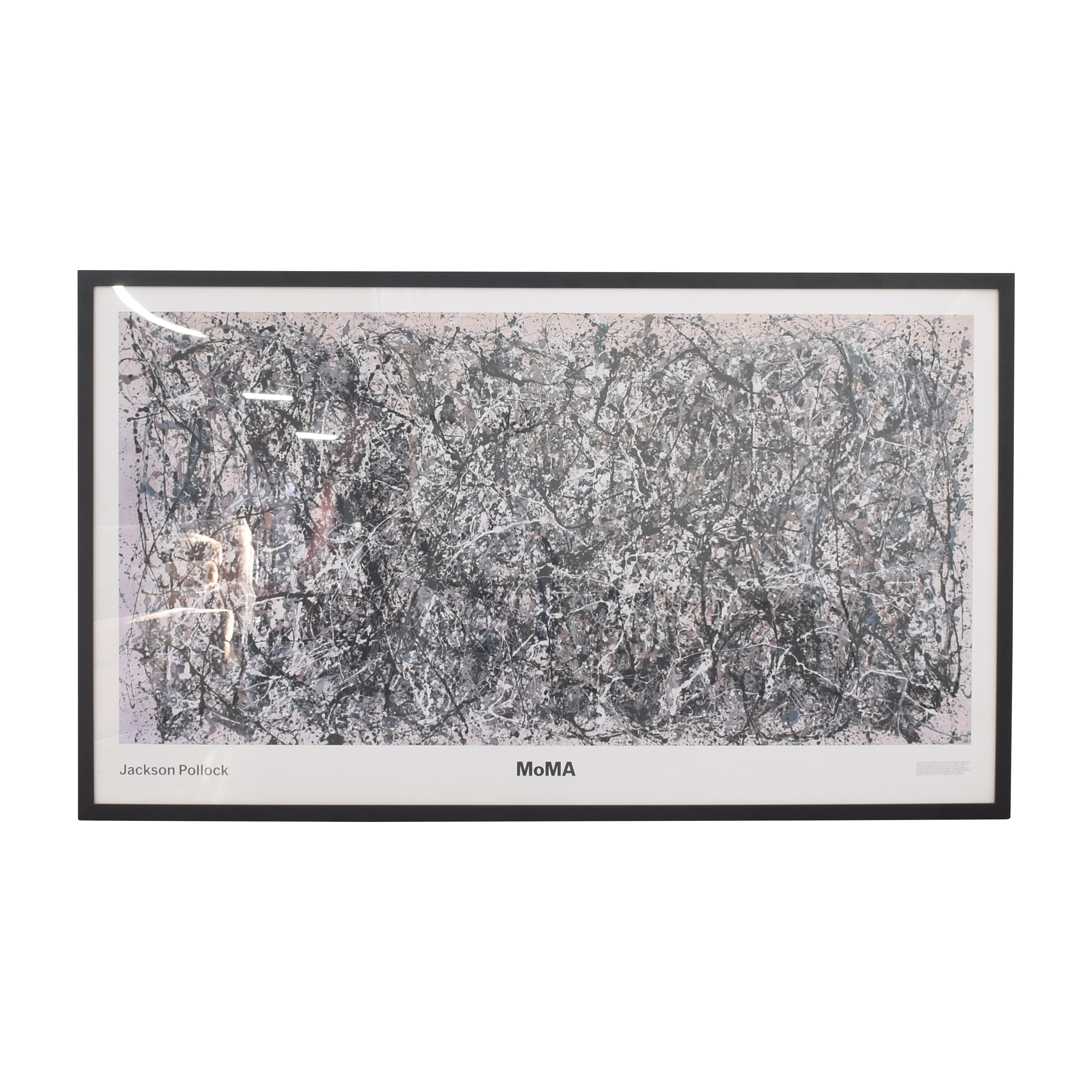Jackson Pollock One: Number 31, 1950 Framed Print dimensions