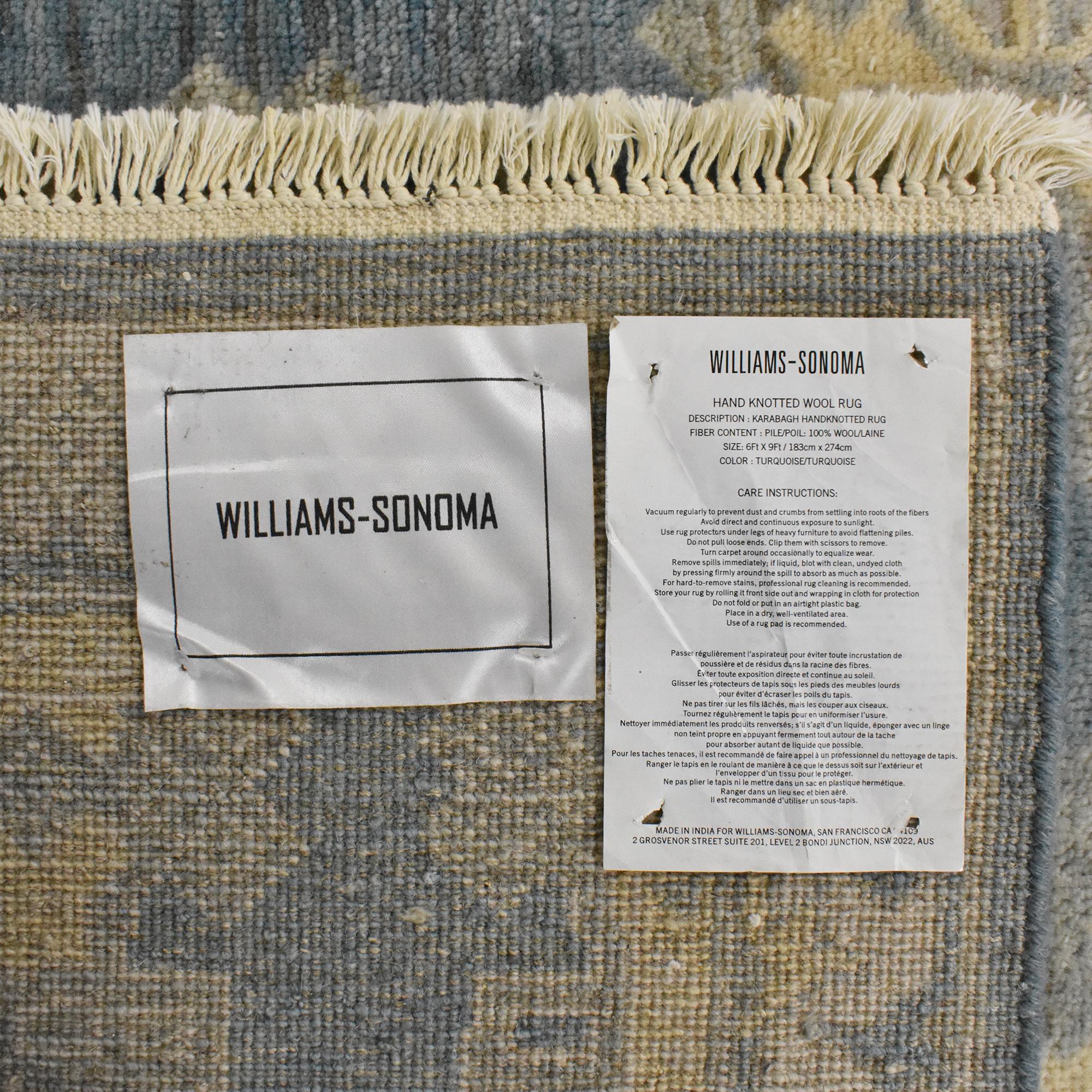 Williams Sonoma Williams Sonoma Hand Knotted Area Rug Rugs