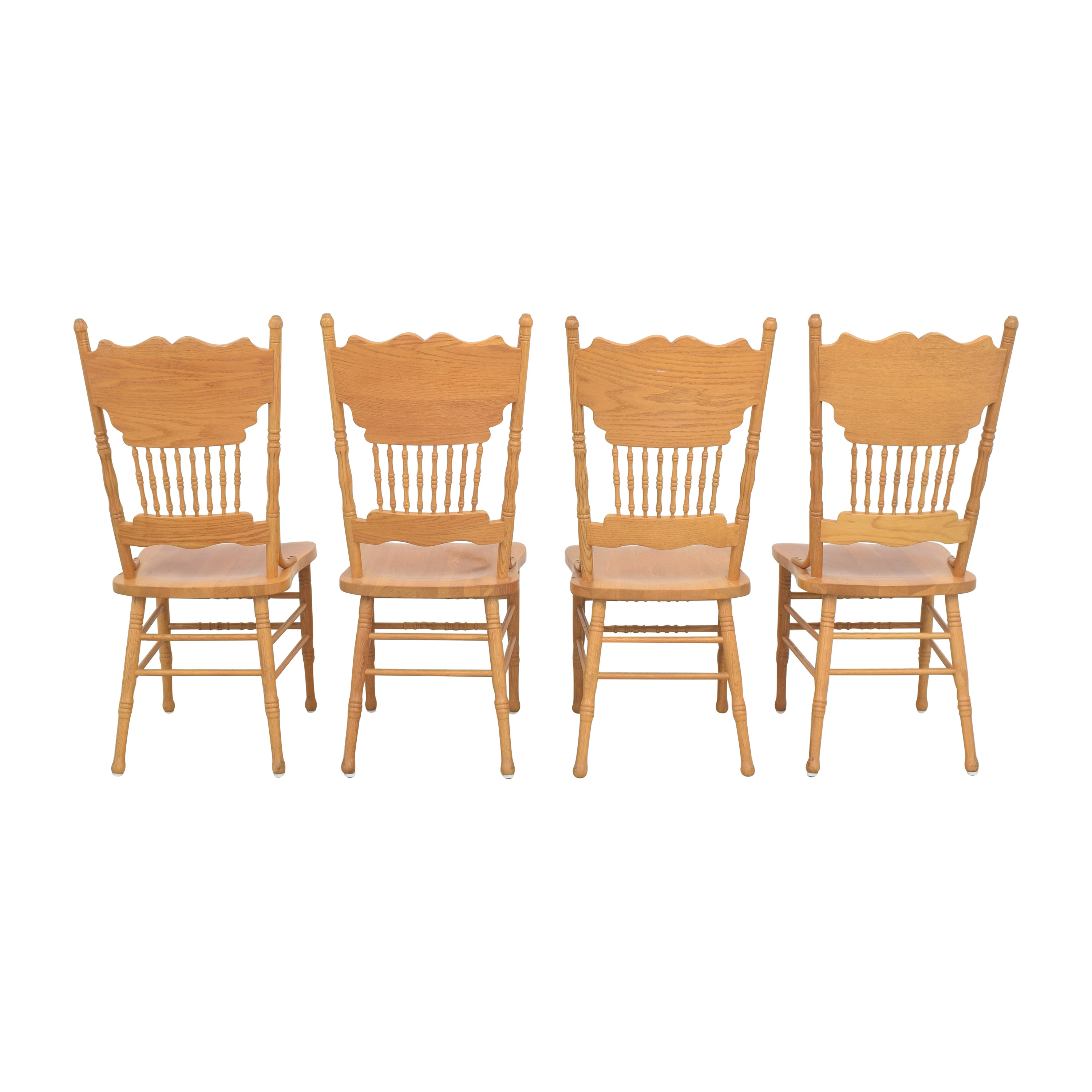 A-America Wood Furniture A-America Wood Carved Dining Chairs used