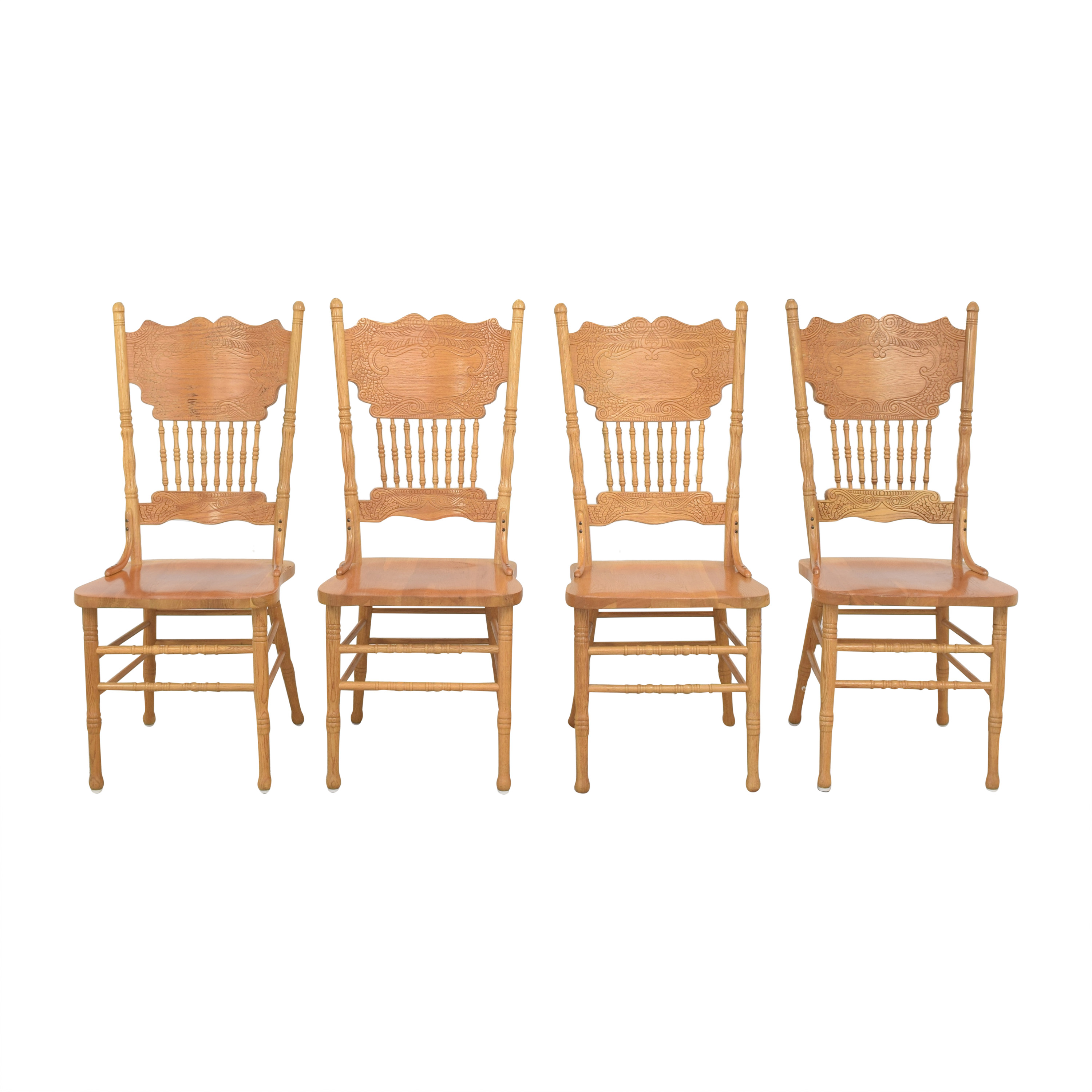 A-America Wood Furniture A-America Wood Carved Dining Chairs dimensions