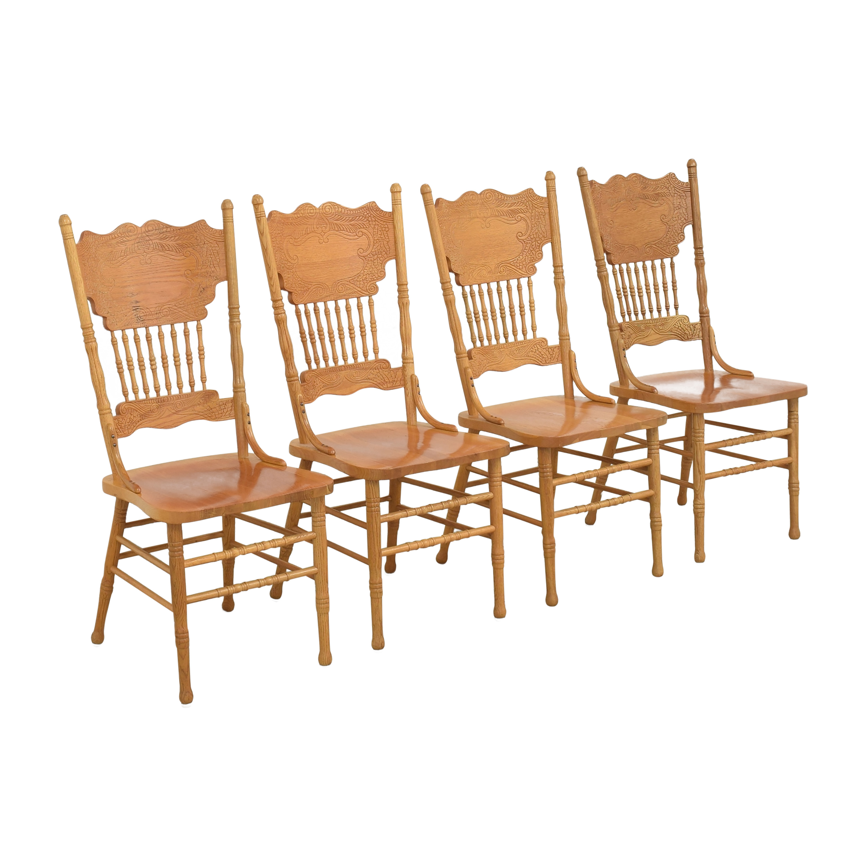 A-America Wood Furniture A-America Wood Carved Dining Chairs on sale