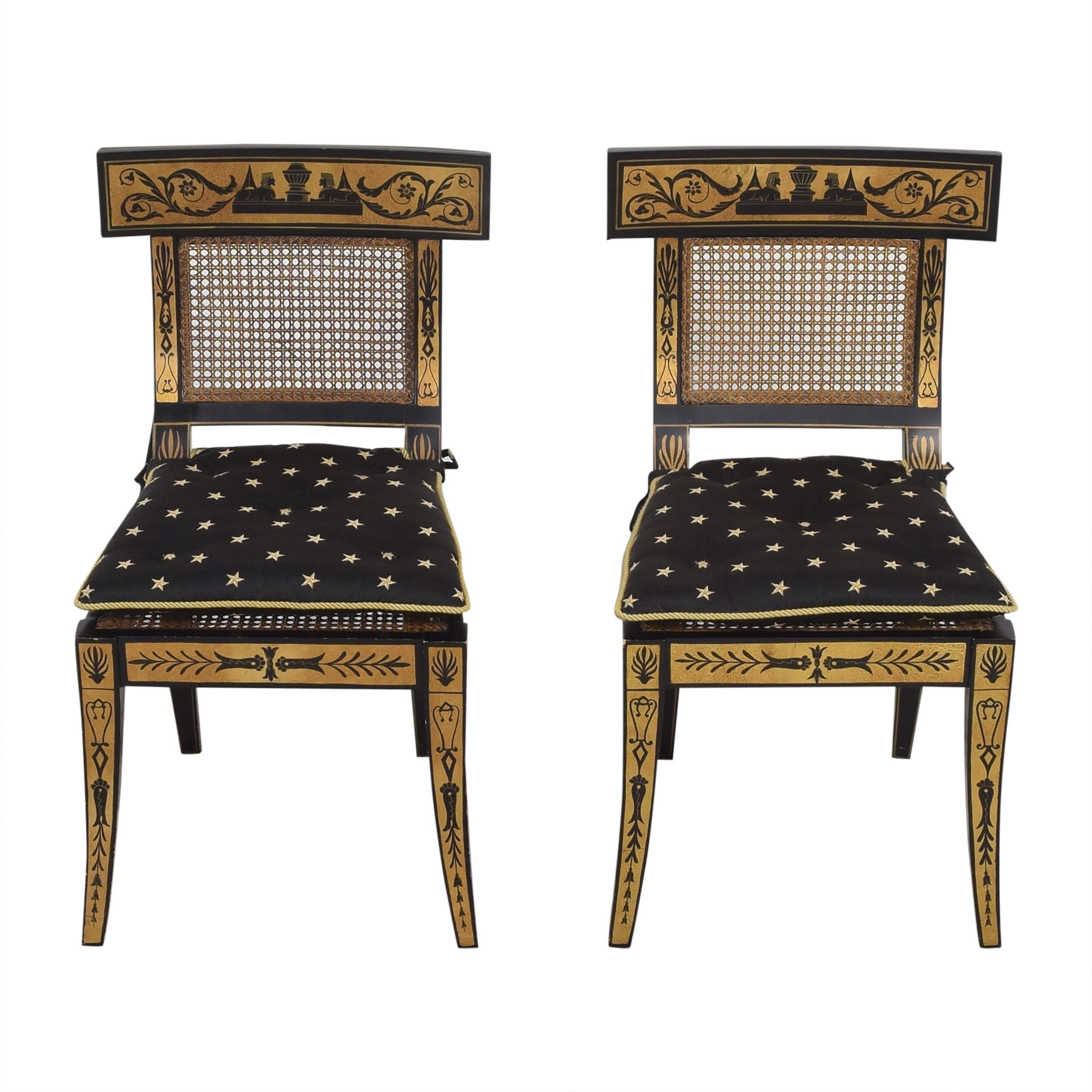Maitland-Smith Maitland-Smith Decorative Dining Chairs with Cushions on sale