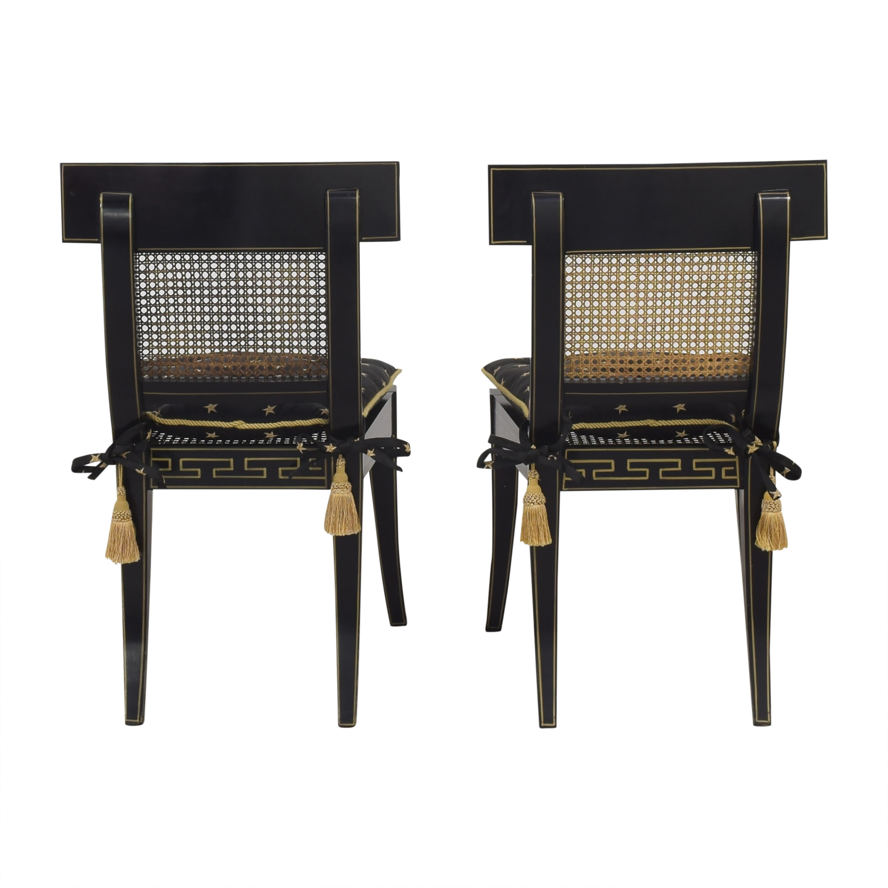 buy Maitland-Smith Decorative Dining Chairs with Cushions Maitland-Smith Dining Chairs