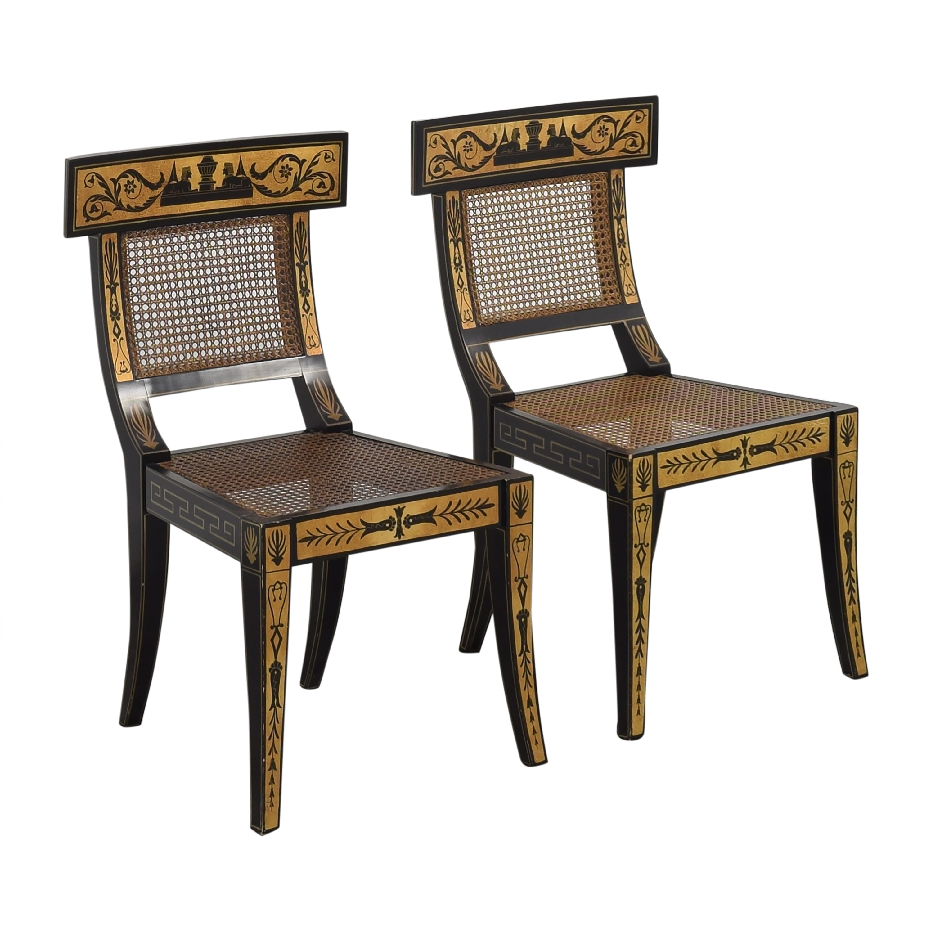 shop Maitland-Smith Decorative Dining Chairs with Cushions Maitland-Smith Chairs