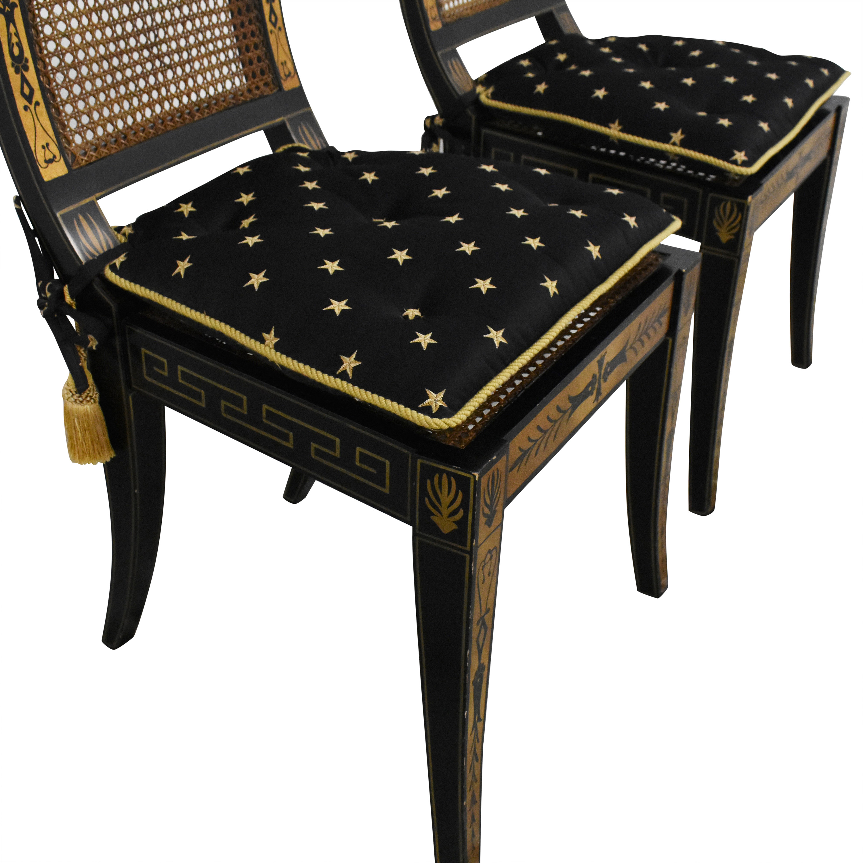 Maitland-Smith Decorative Dining Chairs with Cushions / Chairs