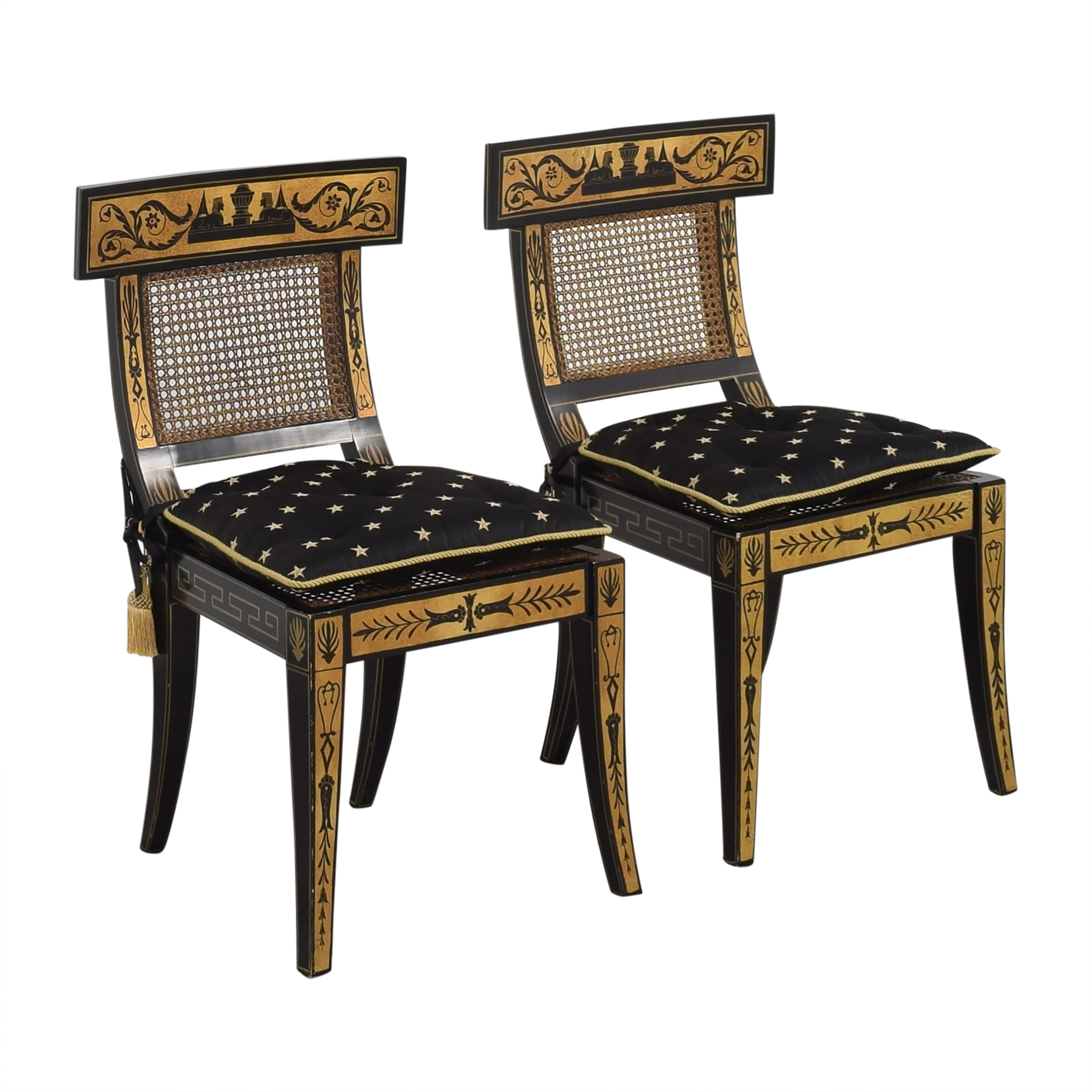 Maitland-Smith Maitland-Smith Decorative Dining Chairs with Cushions for sale