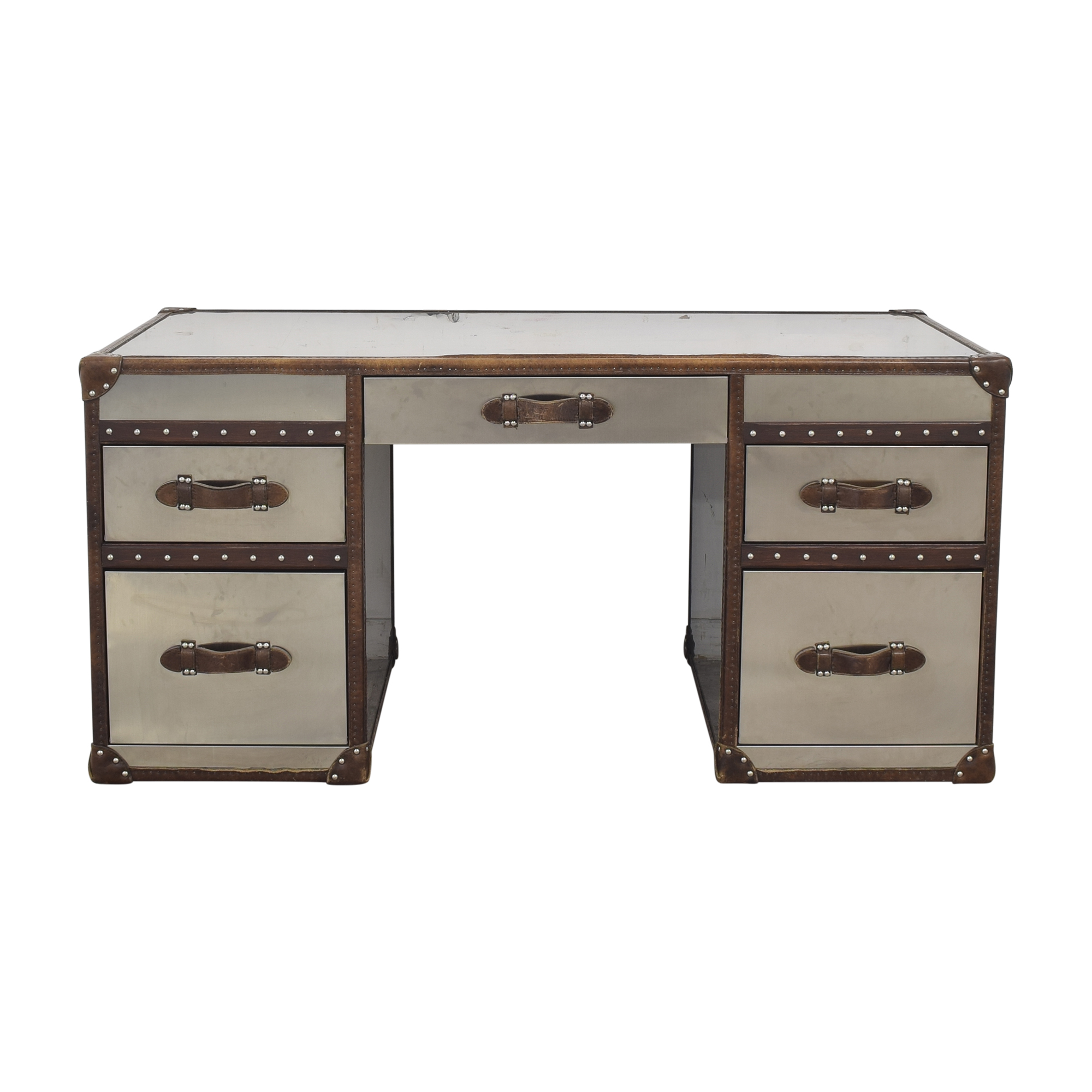 buy Restoration Hardware Mayfair Streamer Trunk Desk Restoration Hardware Home Office Desks