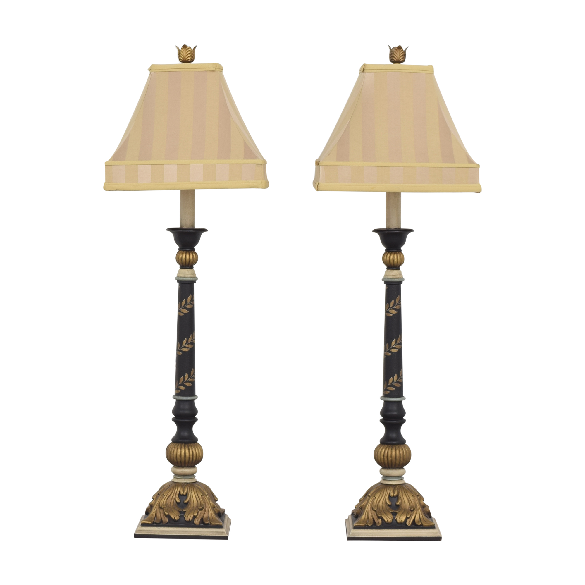 Ethan Allen Ethan Allen Tall Painted Table Lamps second hand