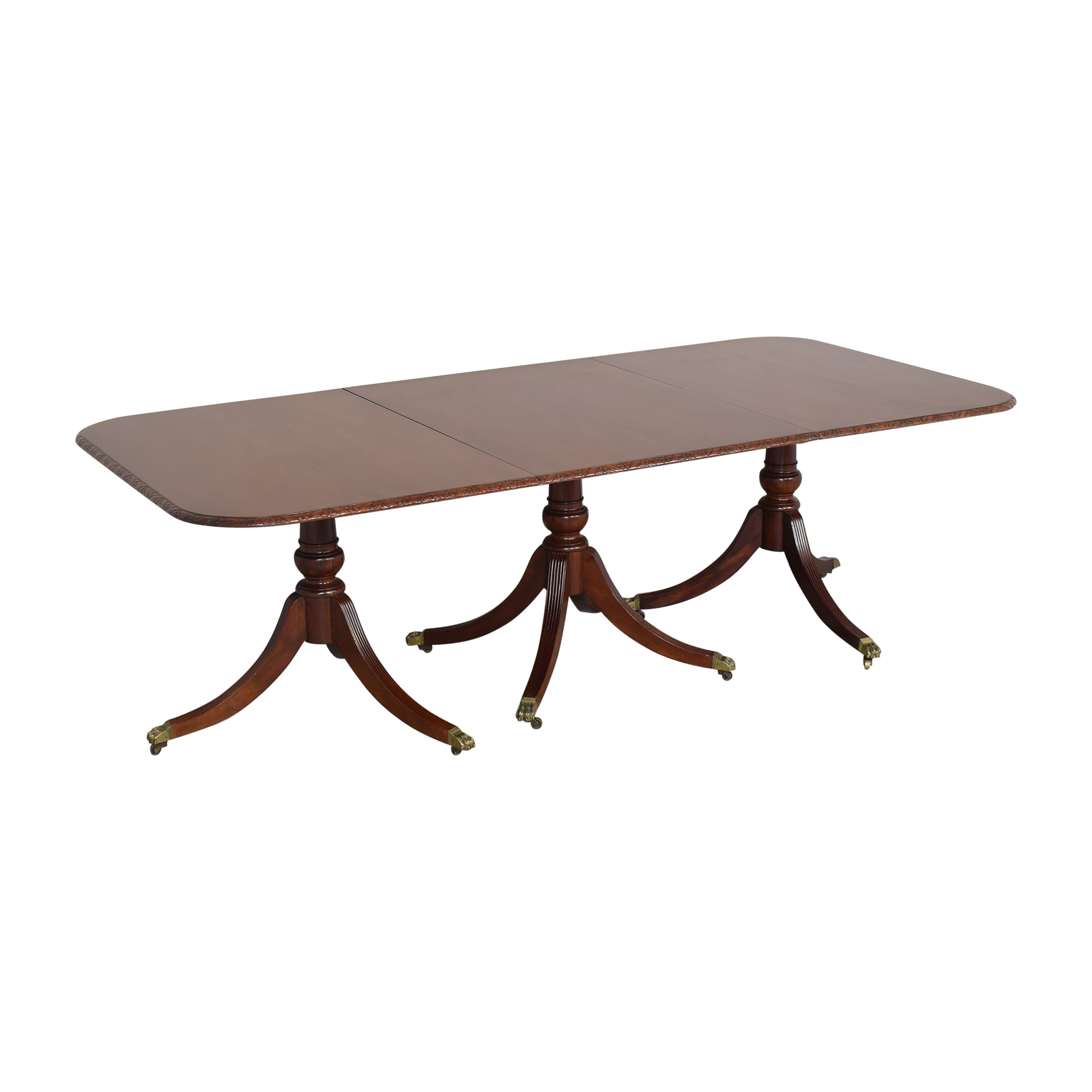 shop Extendable Carved Edge Dining Table