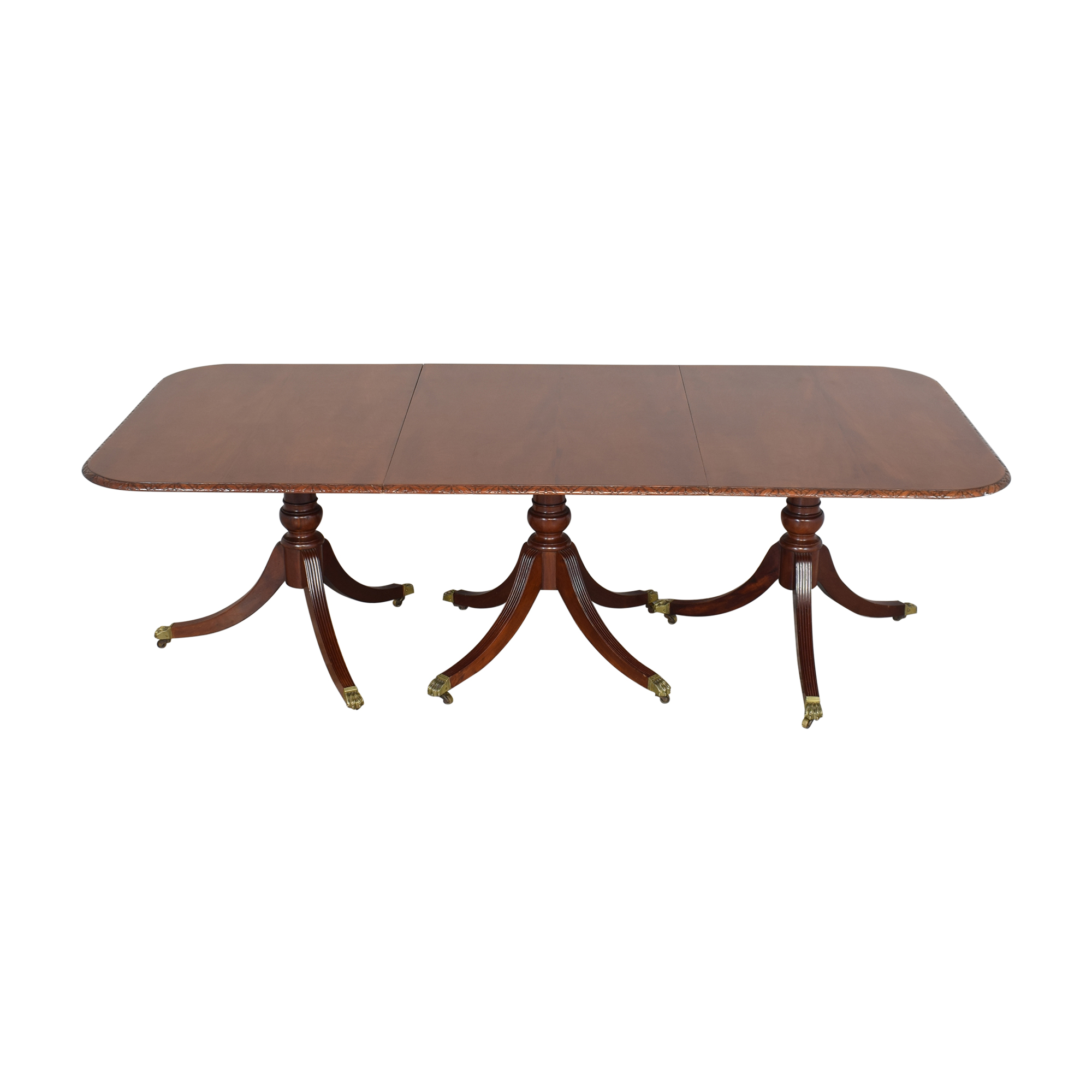Extendable Carved Edge Dining Table