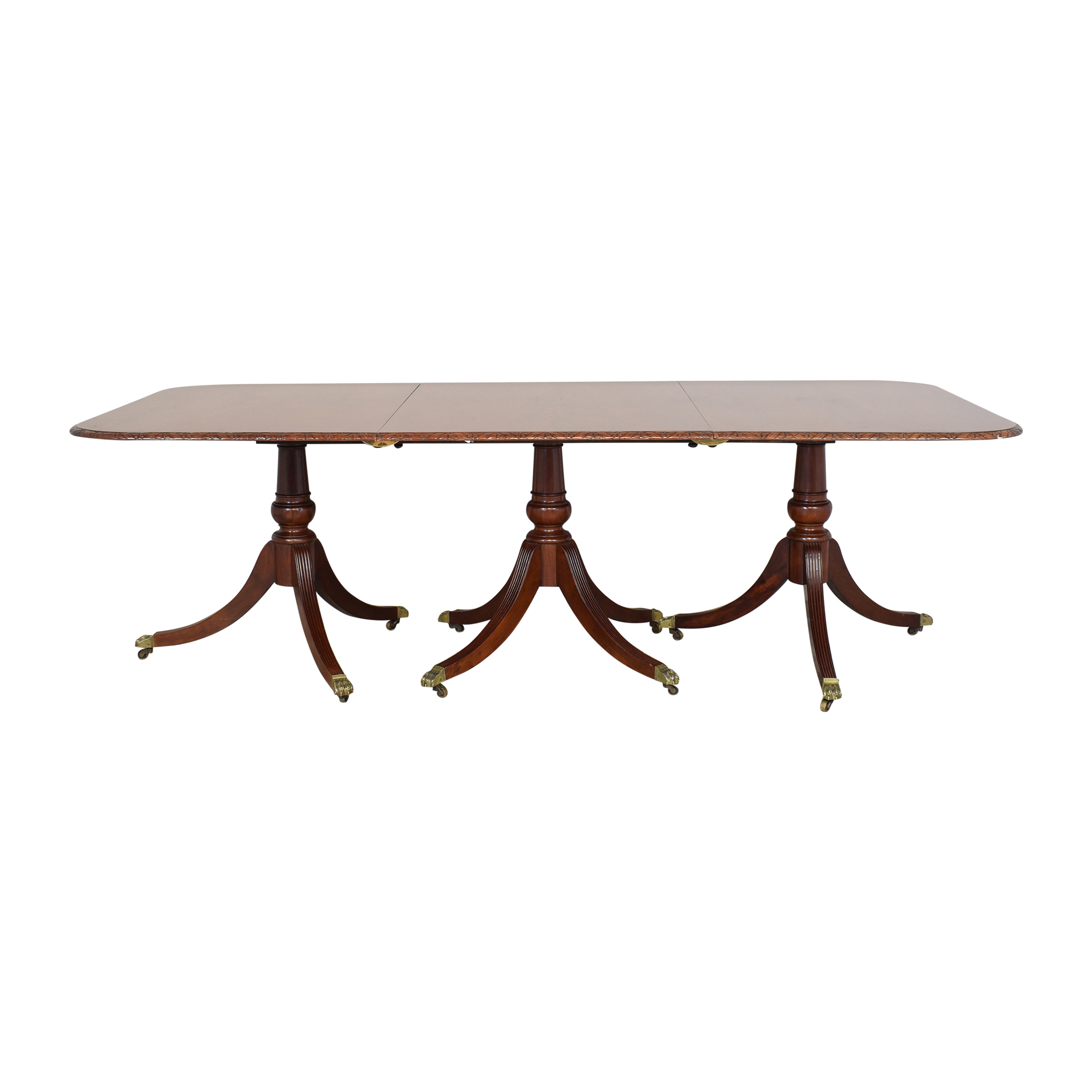 Extendable Carved Edge Dining Table nj