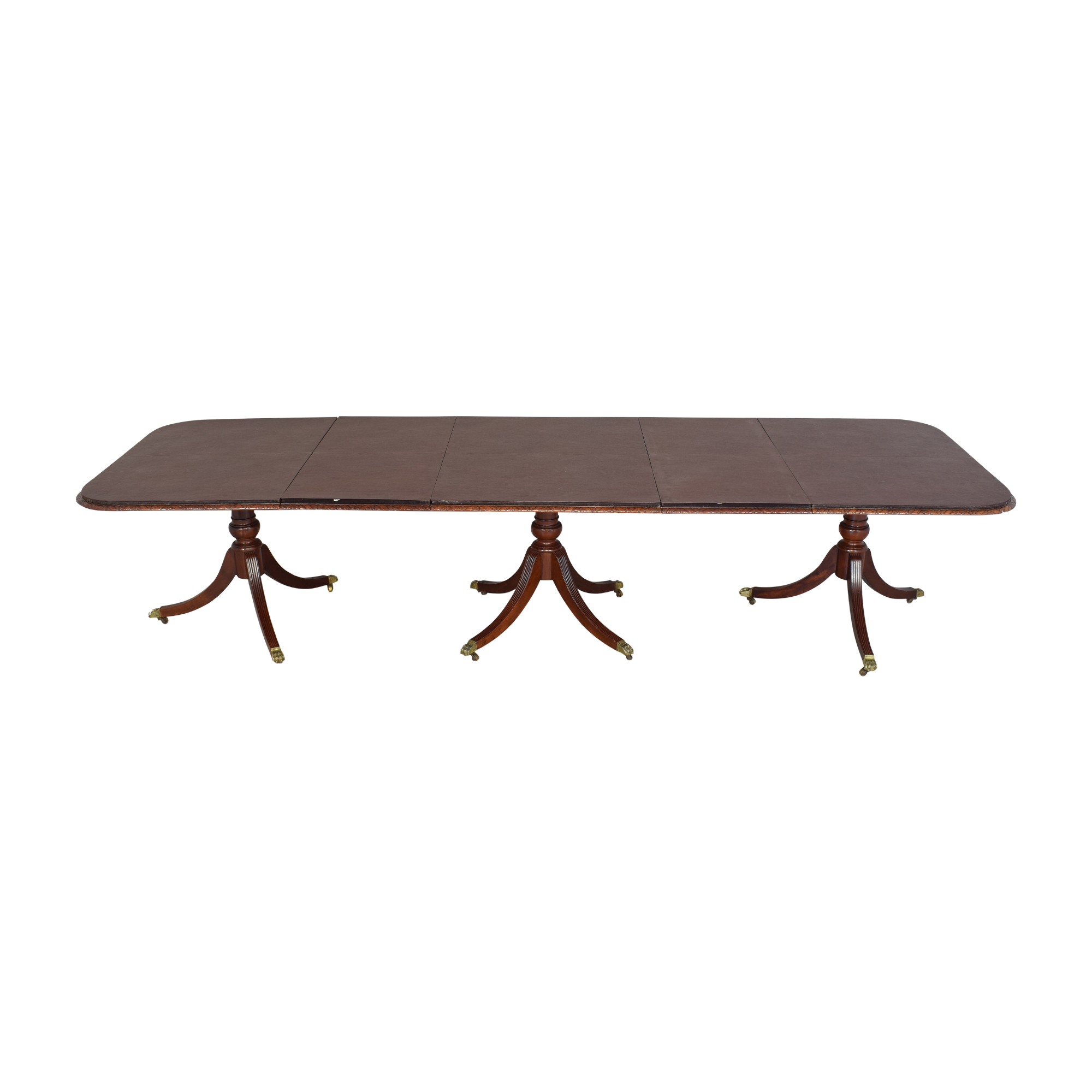 buy Extendable Carved Edge Dining Table