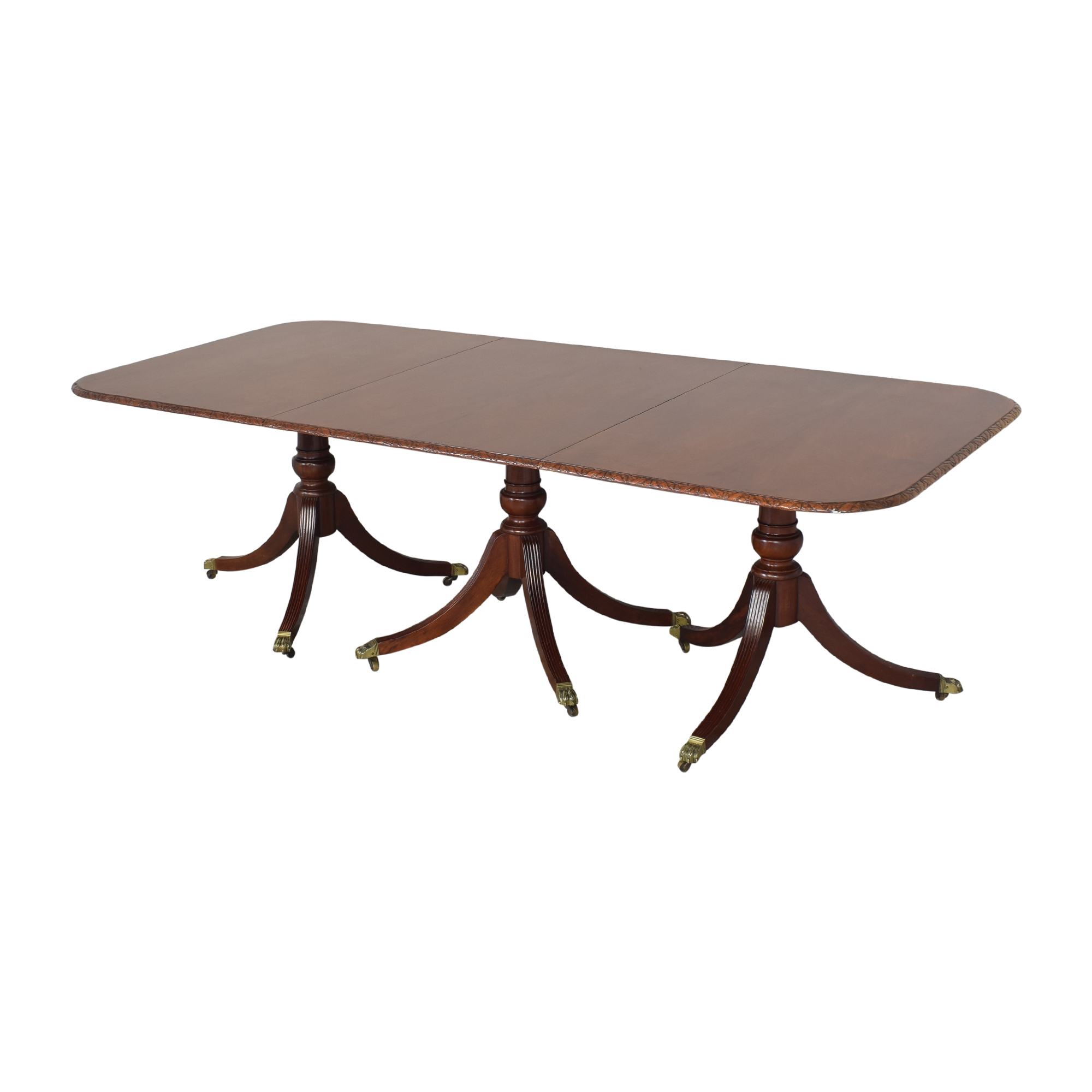 buy Extendable Carved Edge Dining Table  Tables