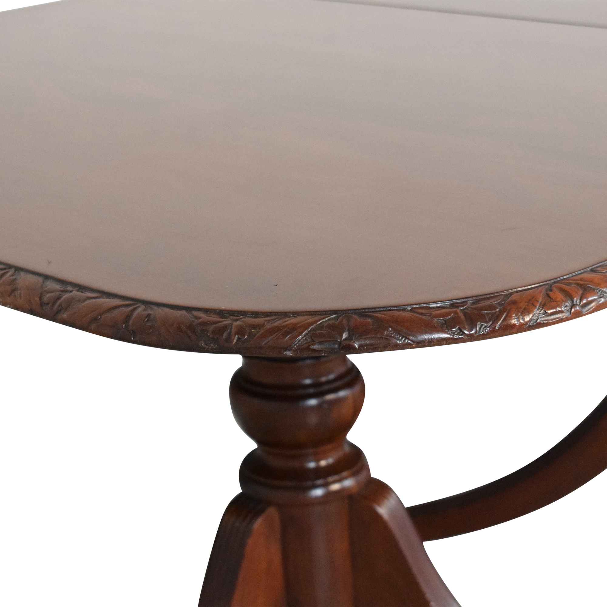 Extendable Carved Edge Dining Table discount