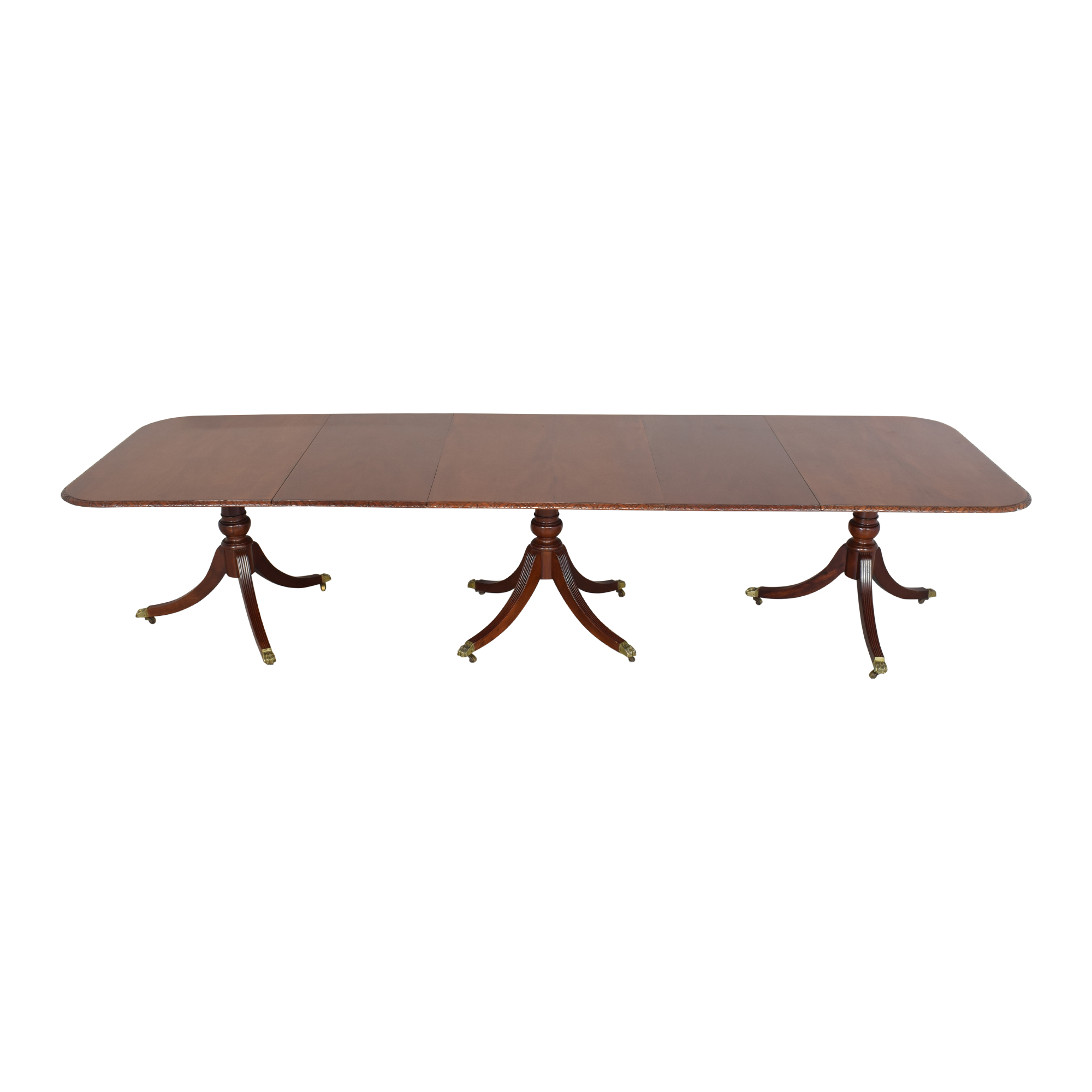 Extendable Carved Edge Dining Table sale