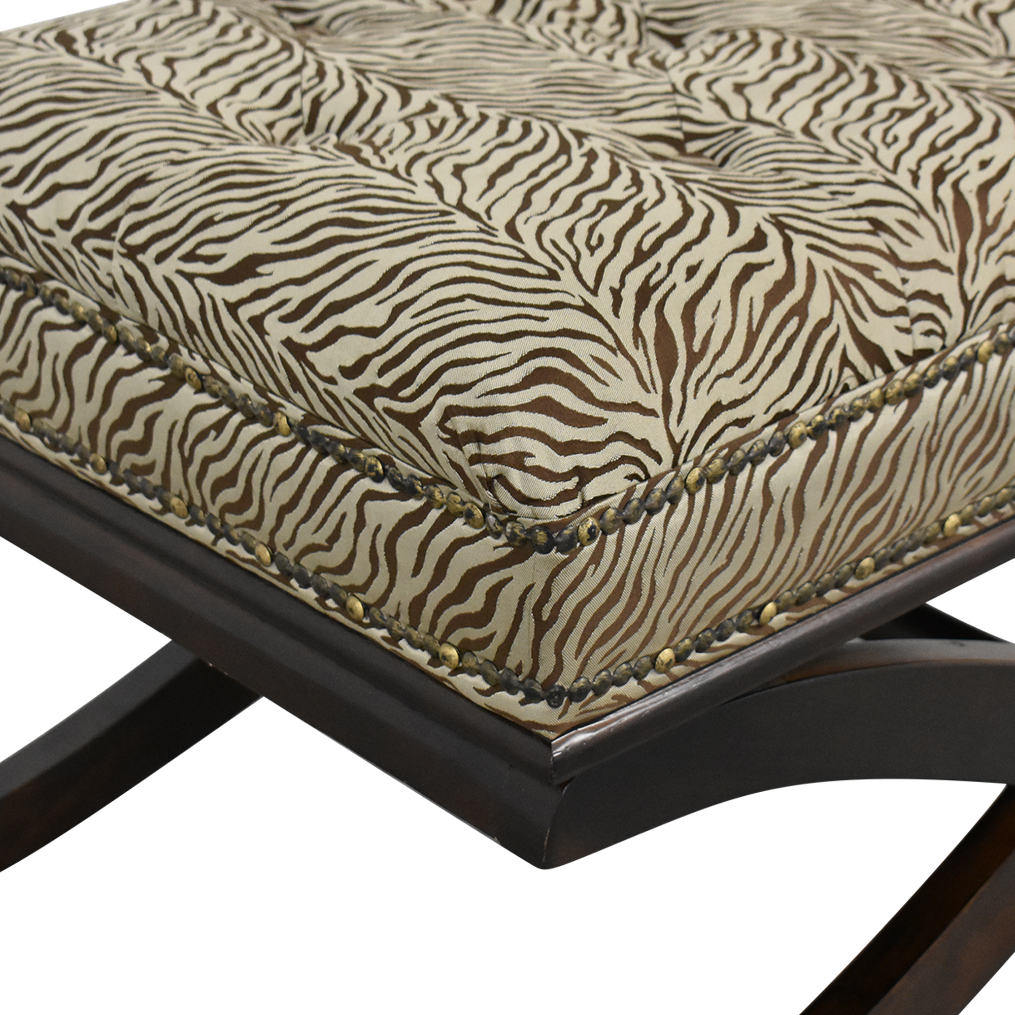 shop Zebra Print X Bench  Benches