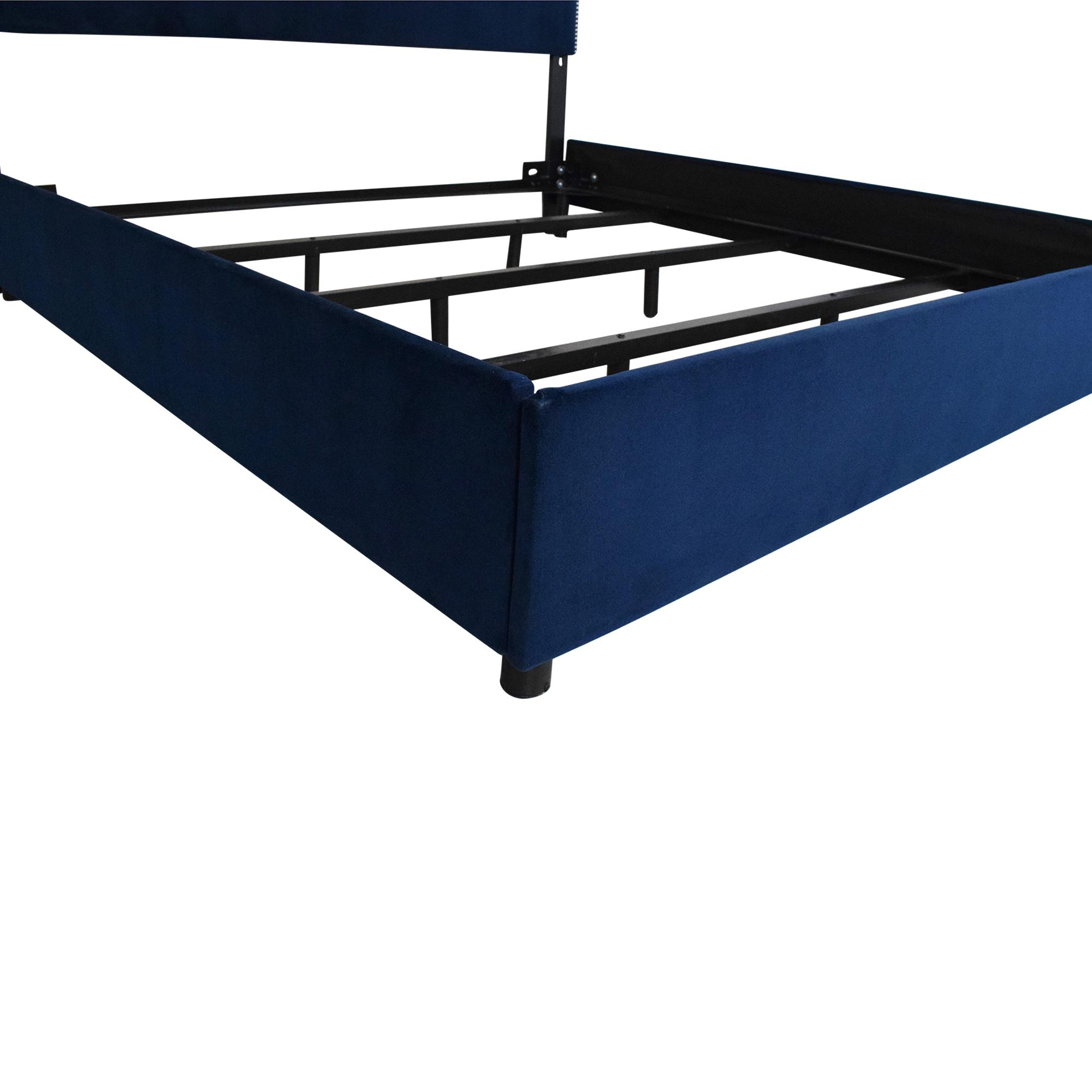 Skyline Furniture Skyline Nailhead King Bed with Headboard ct