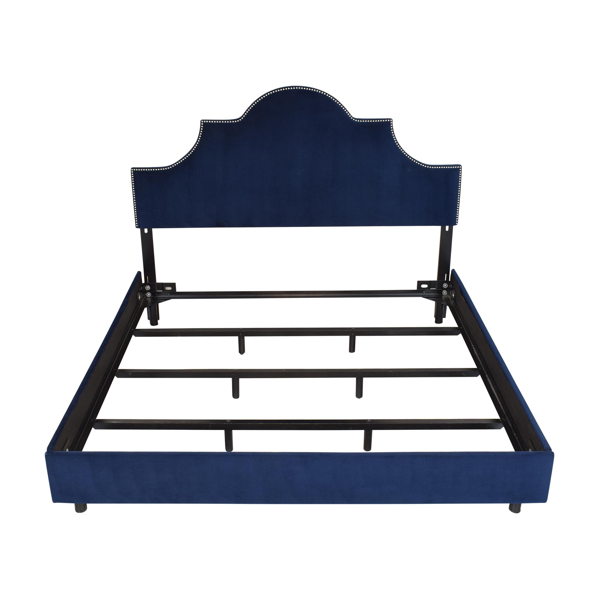 Skyline Furniture Skyline Nailhead King Bed with Headboard second hand