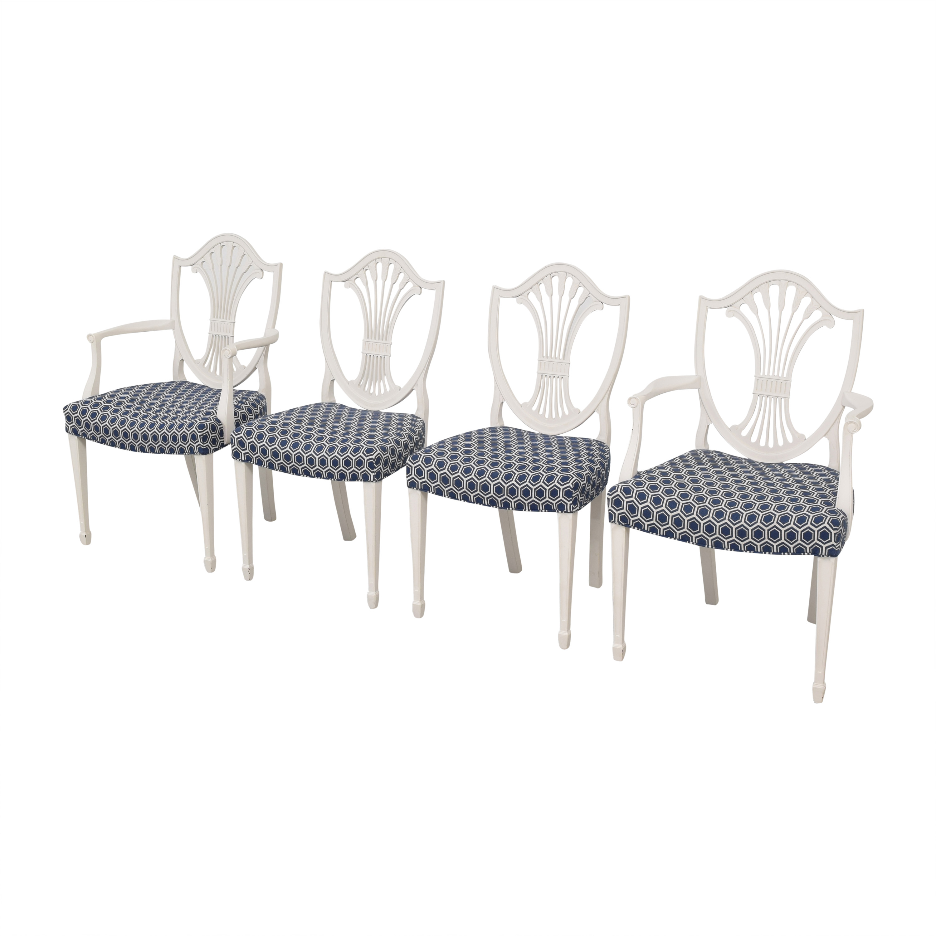 buy Refurbished Antique Wheat Back Dining Chairs  Chairs