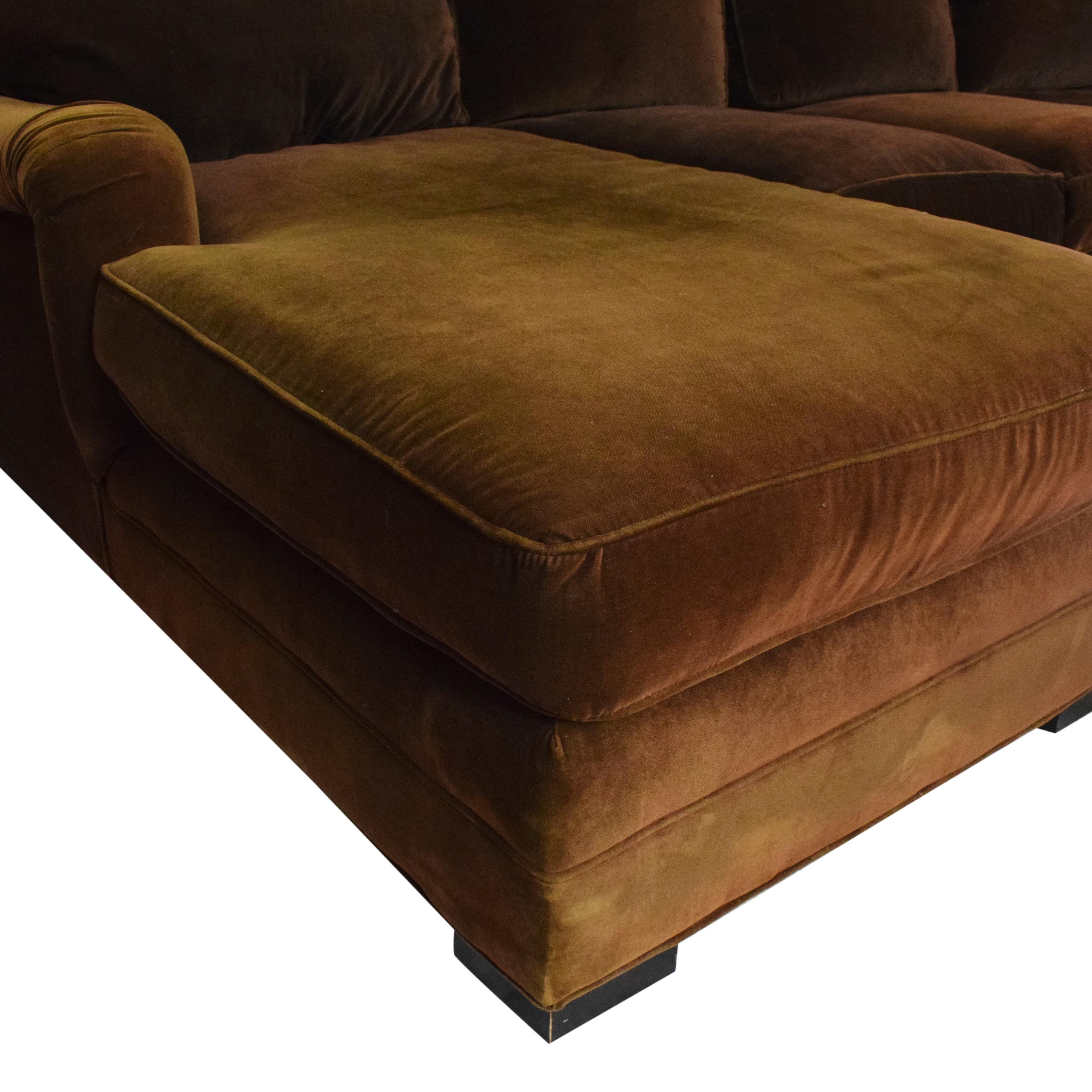 Mitchell Gold + Bob Williams Mitchell Gold + Bob Williams Chaise Sectional Sofa second hand