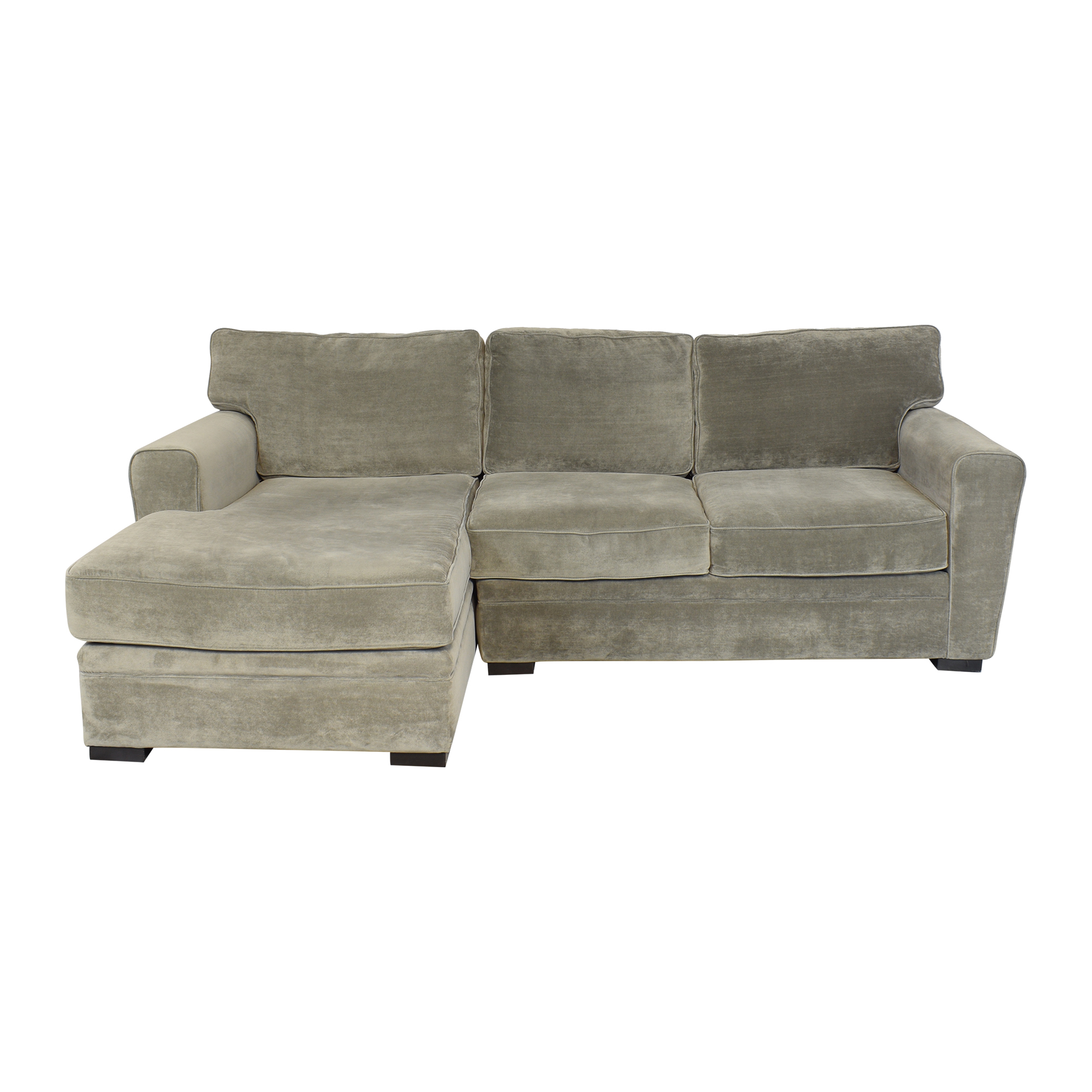 Raymour & Flanigan Raymour & Flanigan Artemis II Sectional Sofa with Chaise dimensions