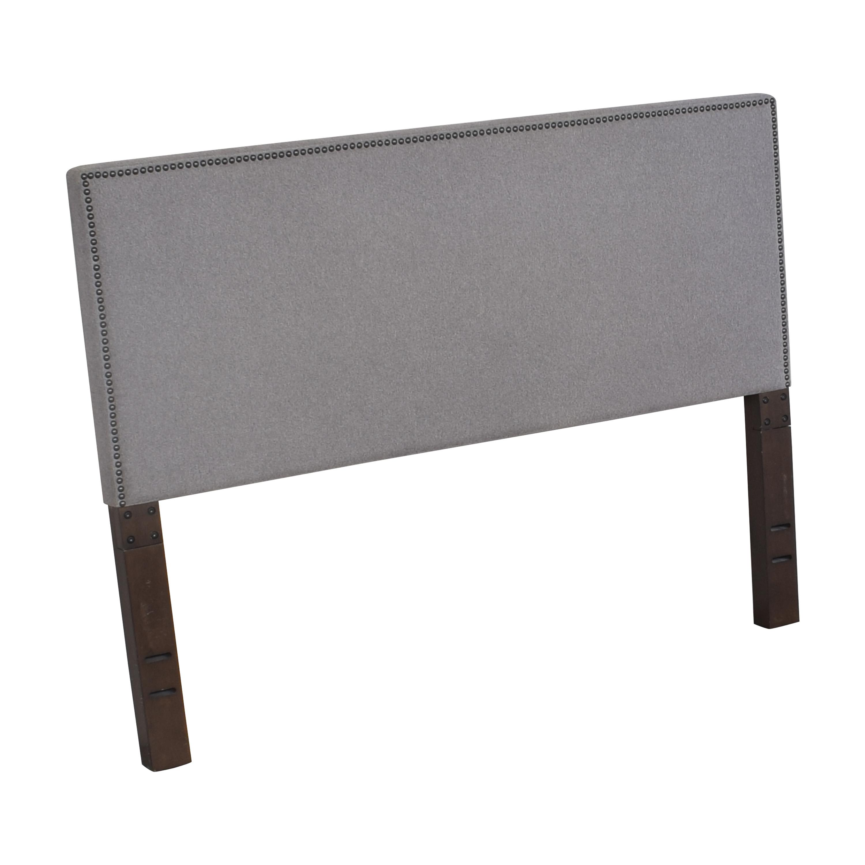West Elm West Elm Nailhead Upholstered Full Headboard Beds