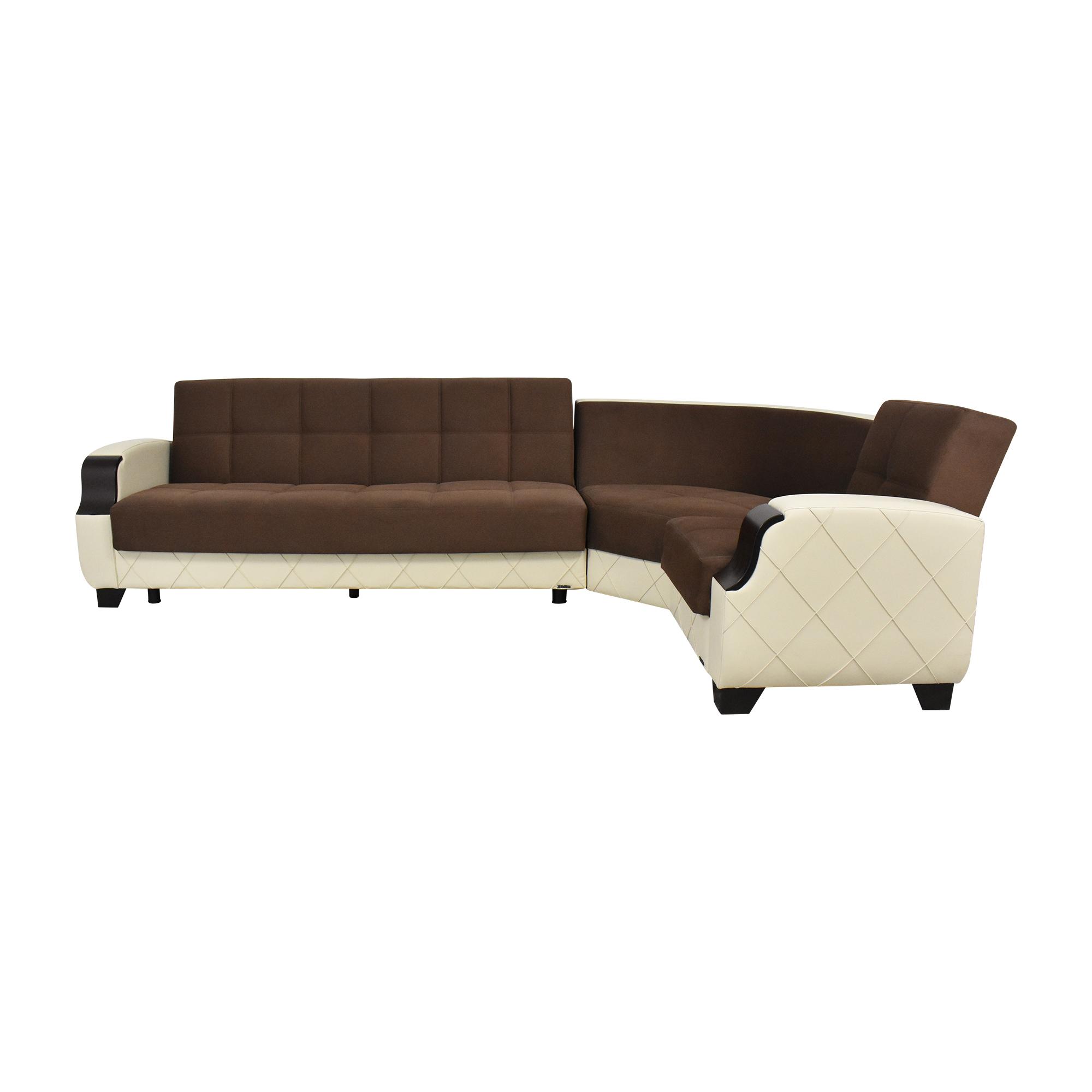 Kilim Kilim Two Tone Sectional Sleeper Sofa with Storage dimensions